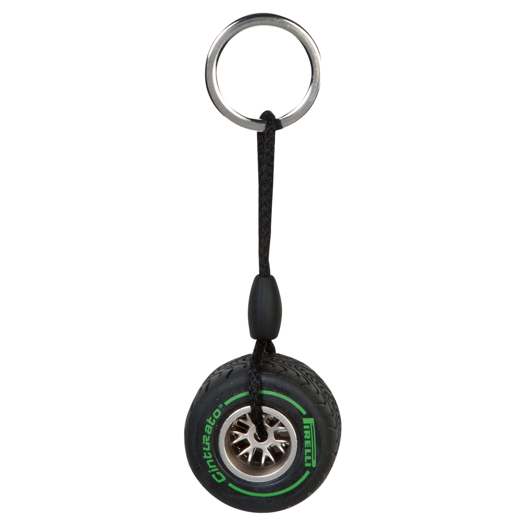 Pirelli Rim Tyre Key Ring - Intermediate Green