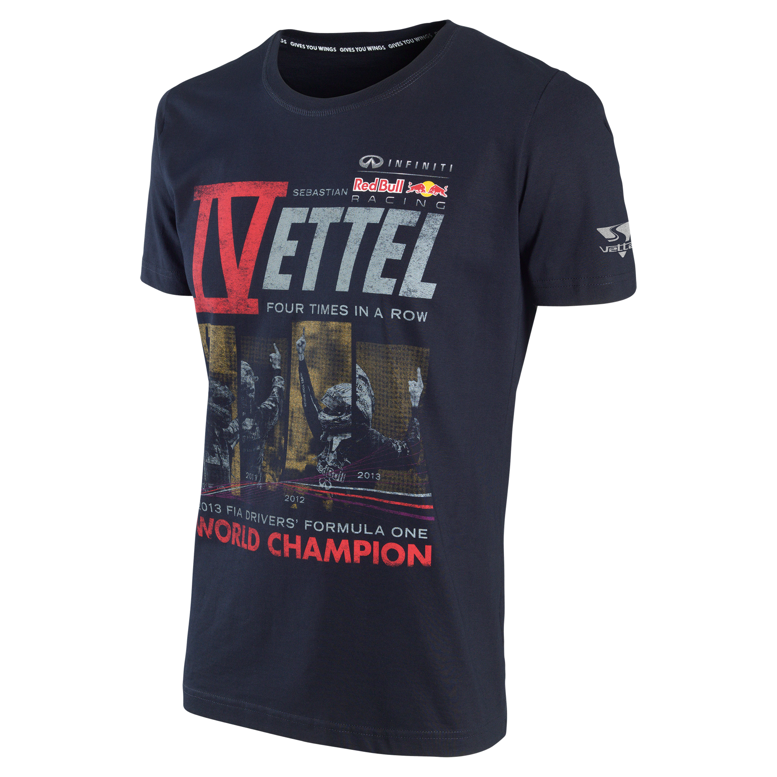 Infiniti Red Bull Racing 2013 Sebastian Vettel World Champion T-Shirt
