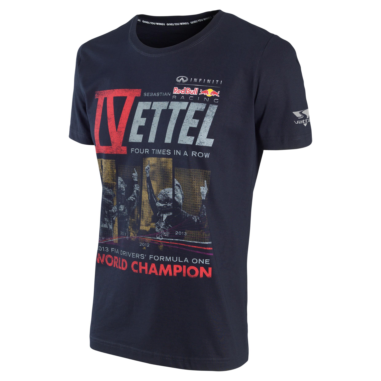 Infiniti Red Bull Racing 2013 Sebastian Vettel World Champion T-Shirt