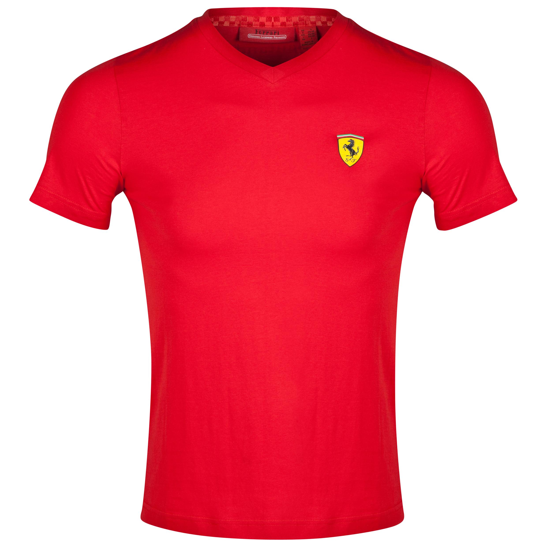 Scuderia Ferrari Santander V-Neck T-Shirt - Red