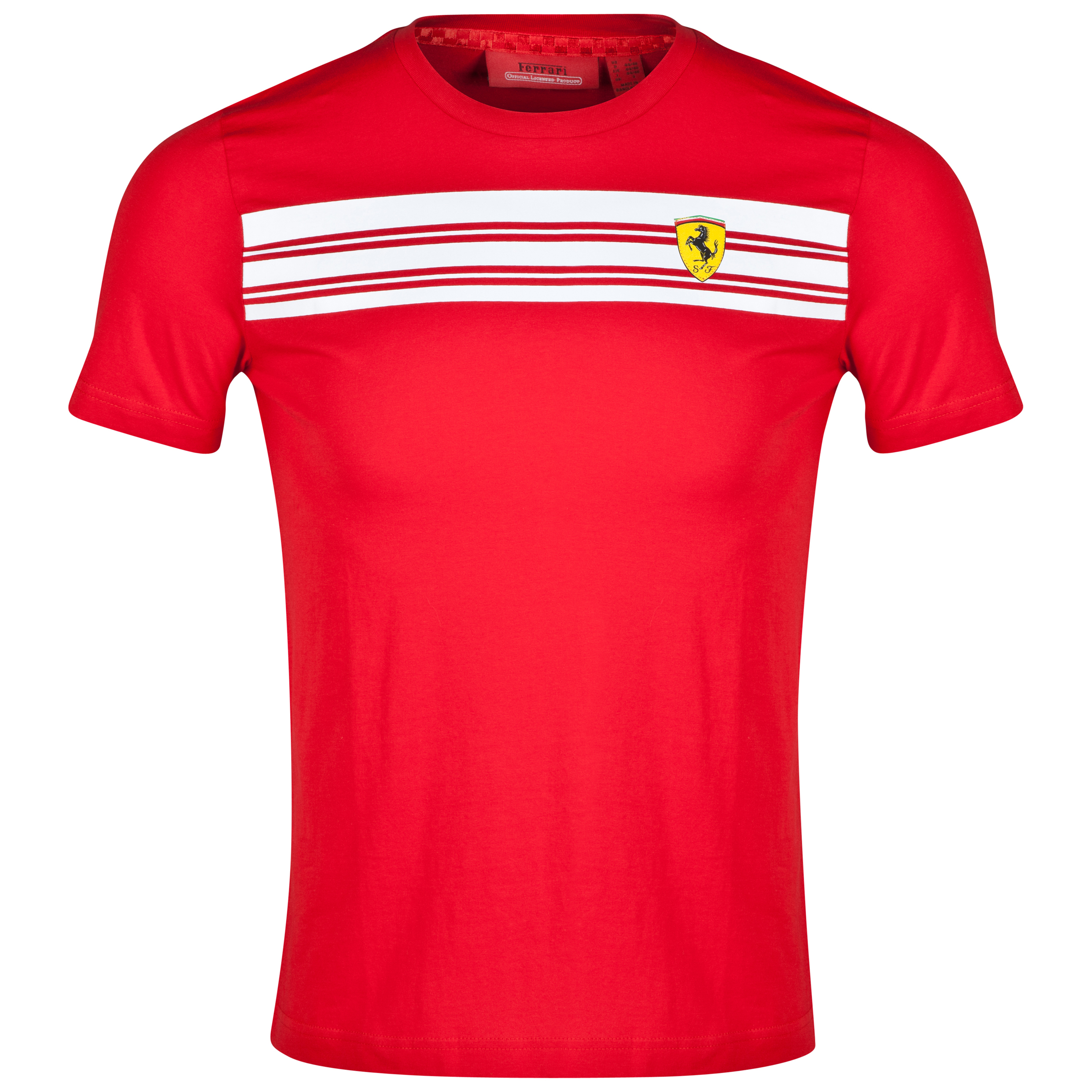 Scuderia Ferrari Striped T-Shirt - Red