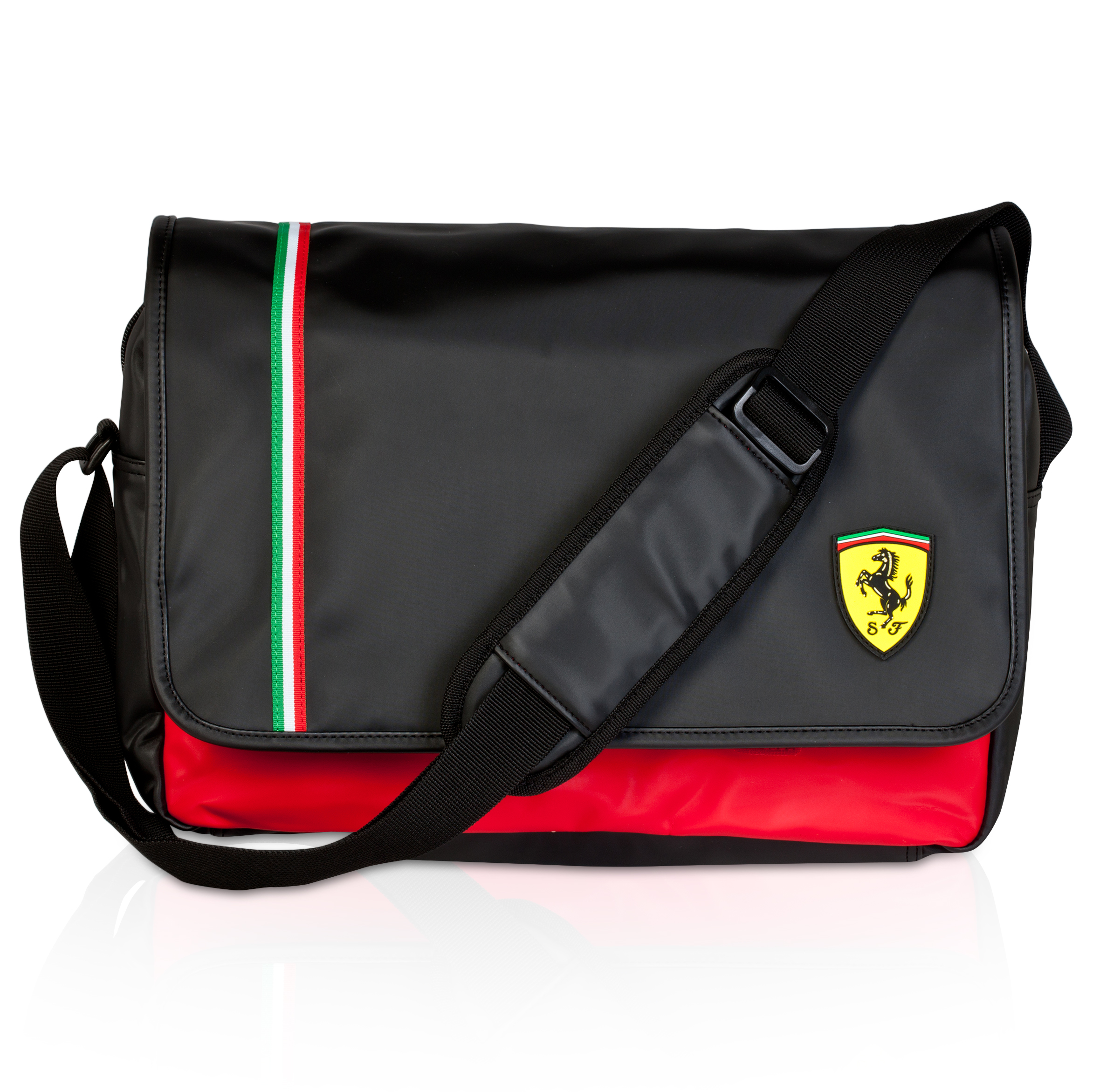 Scuderia Ferrari Messenger Bag - Black