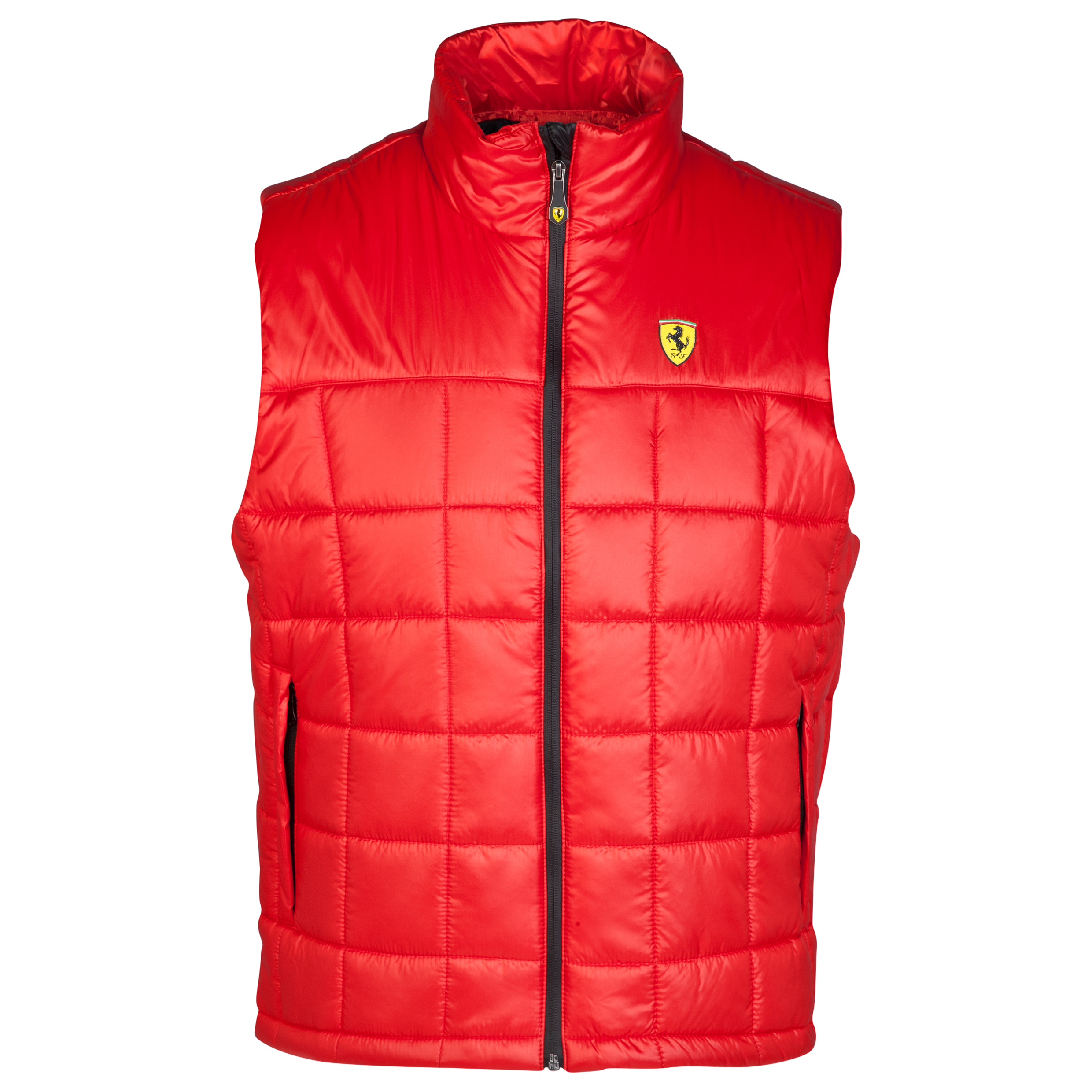 Scuderia Ferrari Quilted Padded Vest - Red