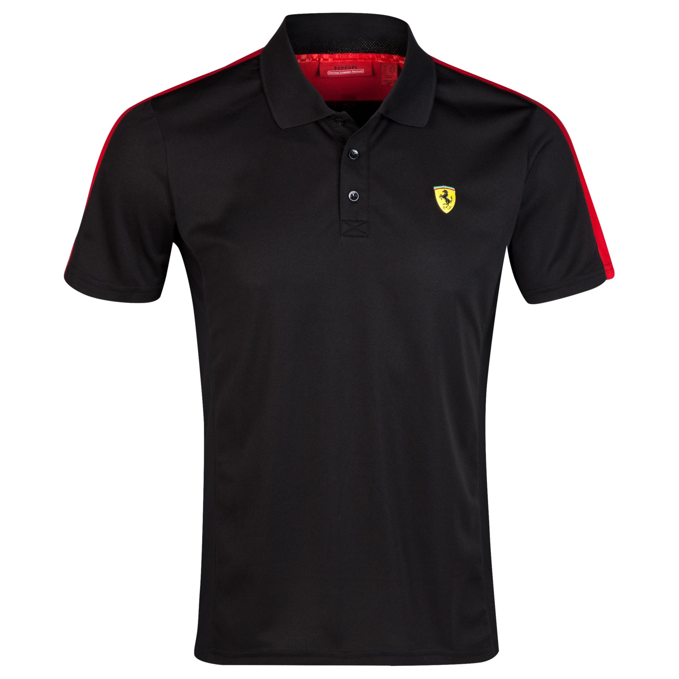 Scuderia Ferrari Sports Polo - Black