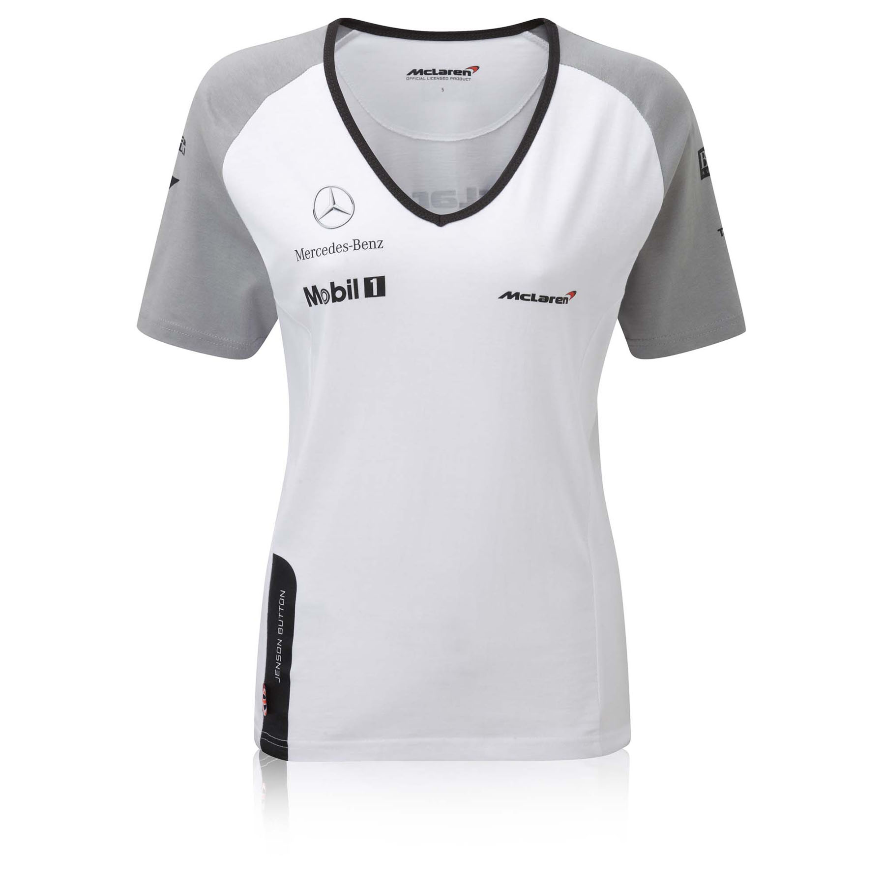 McLaren Mercedes Jenson Button Cotton T-Shirt - Womens