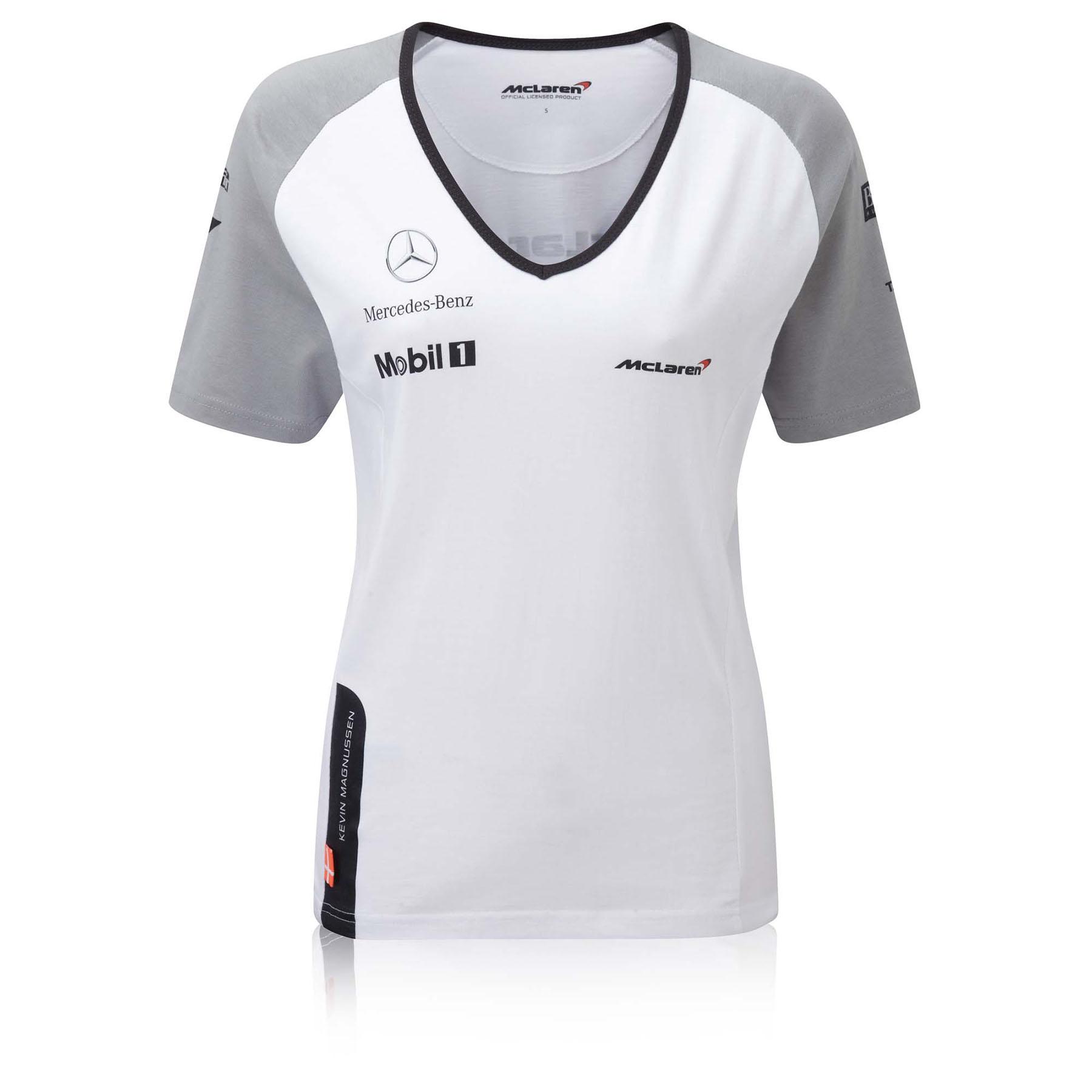 McLaren Mercedes Kevin Magnussen Team T-Shirt - Womens