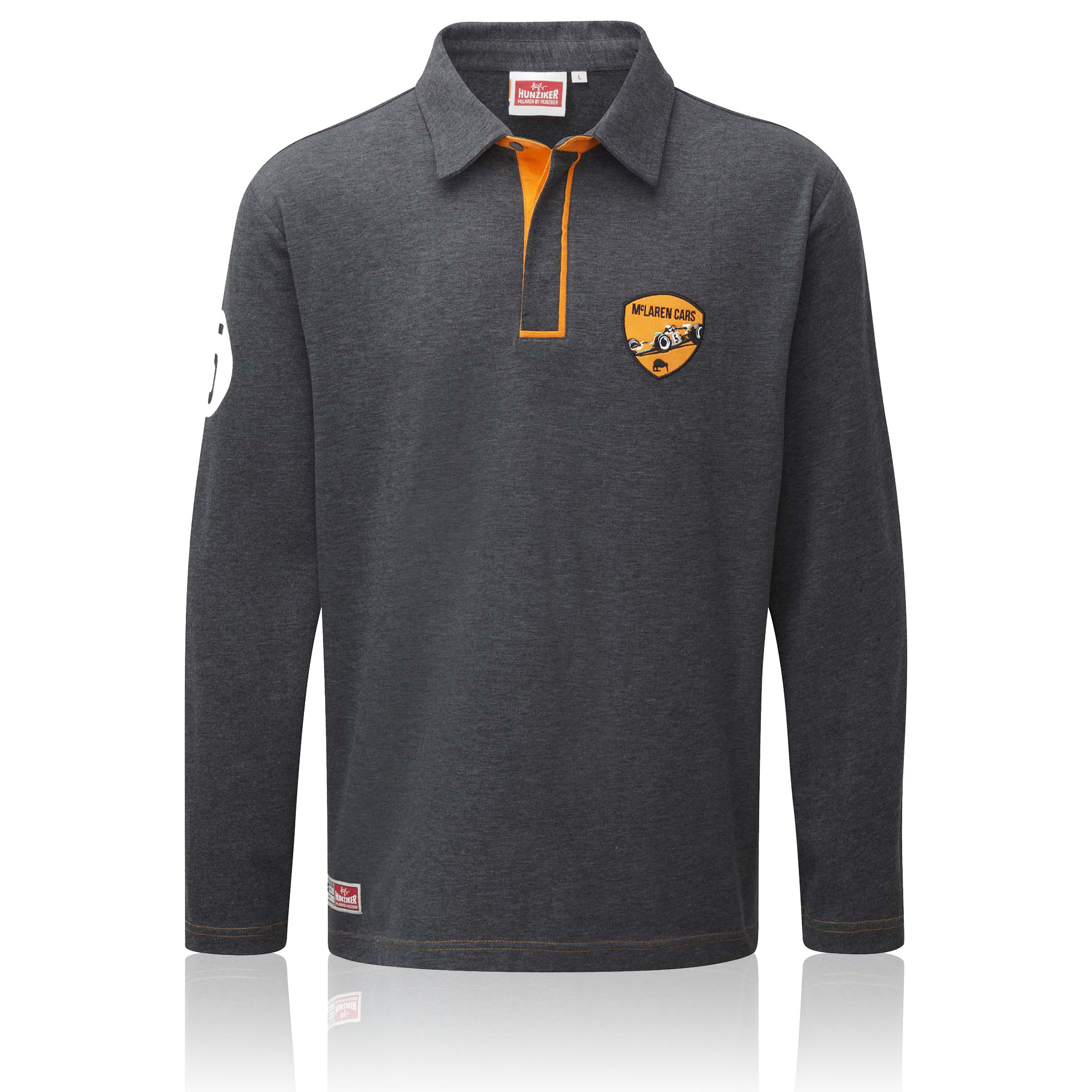 McLaren by Hunziker M7A 1968 Long Sleeve Rugby Polo Shirt Grey