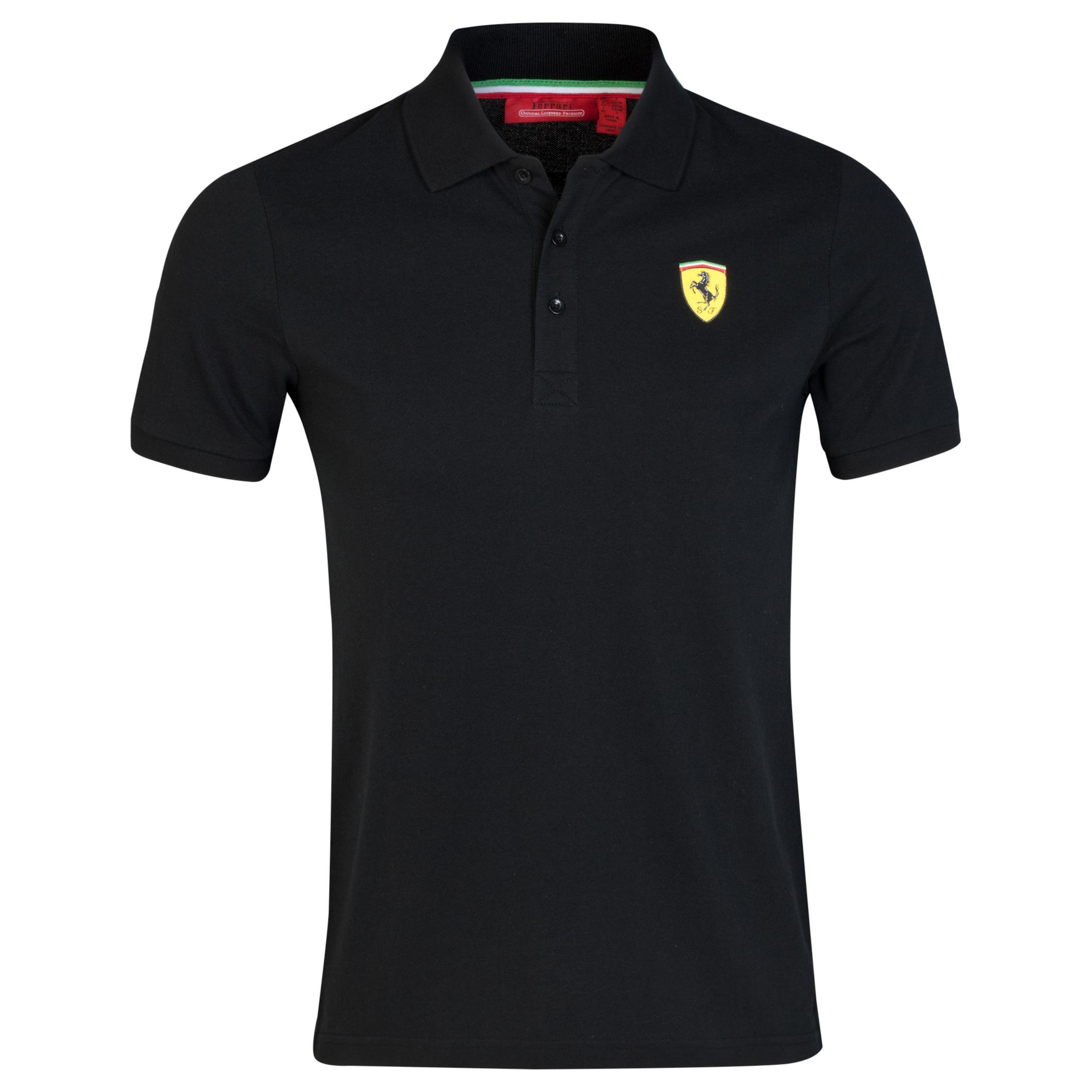 Scuderia Ferrari Mens Classic Polo Shirt Black