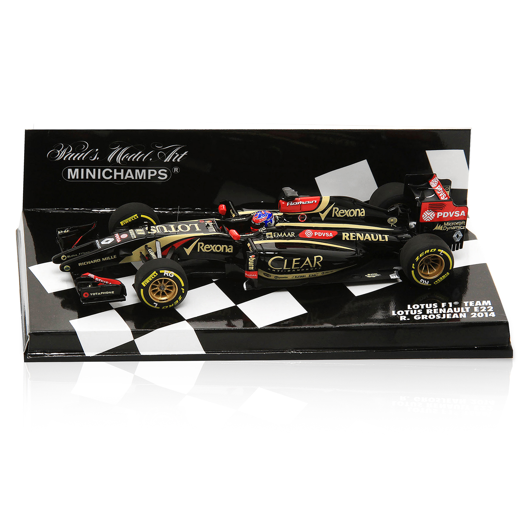 Lotus F1 Renault E22 Romain Grosjean 2014 - 1:43 Scale