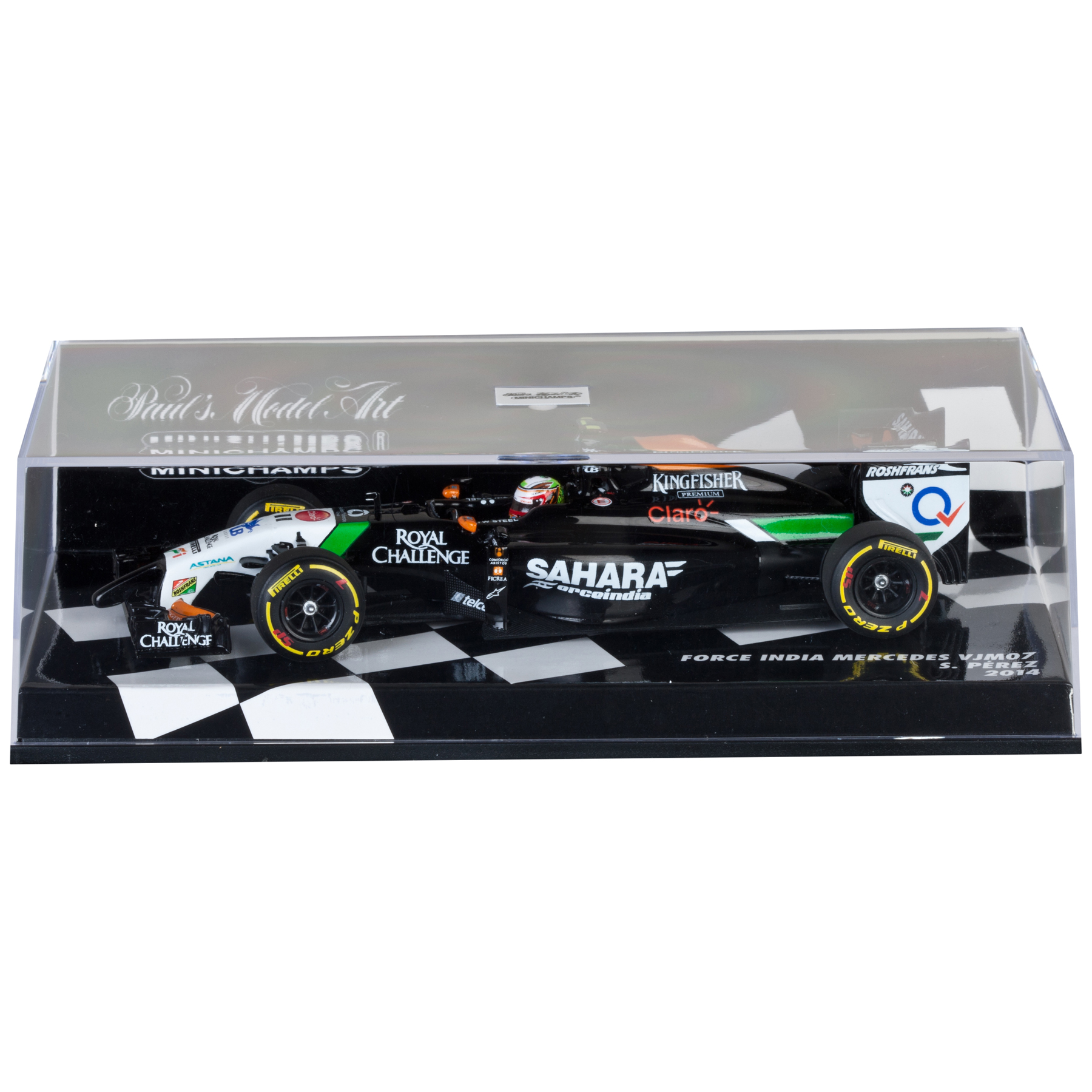 Sahara Force India Mercedes VJM07 Sergio Perez 2014 - 1:43 Scale