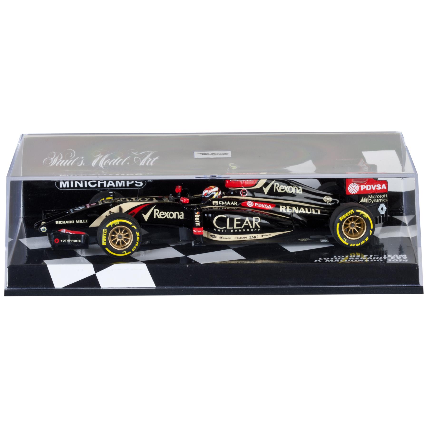 Lotus F1 Renault E22 Pastor Maldonado 2014 - 1:43 Scale