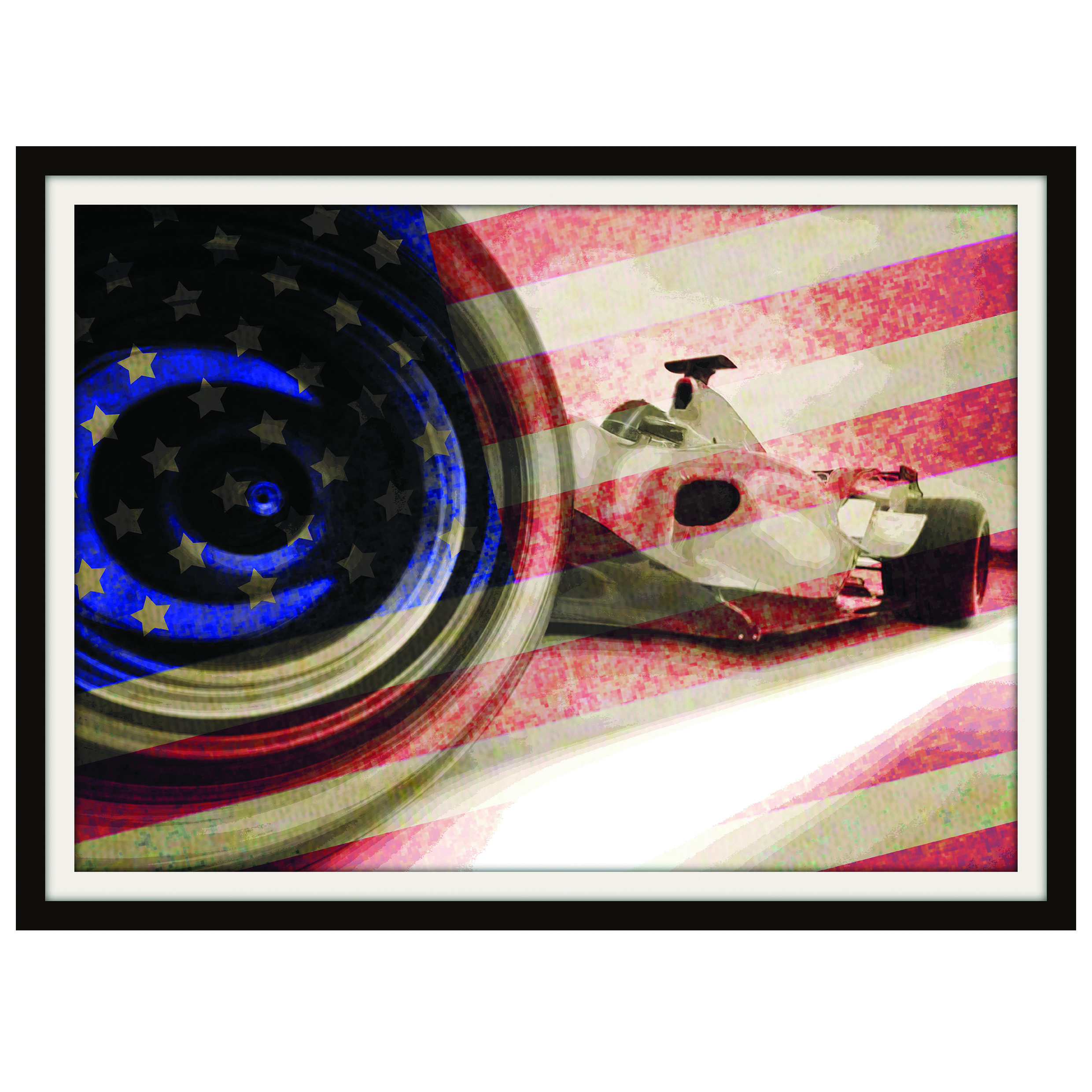Formula One United States F1 Framed Print By Judith Brieger