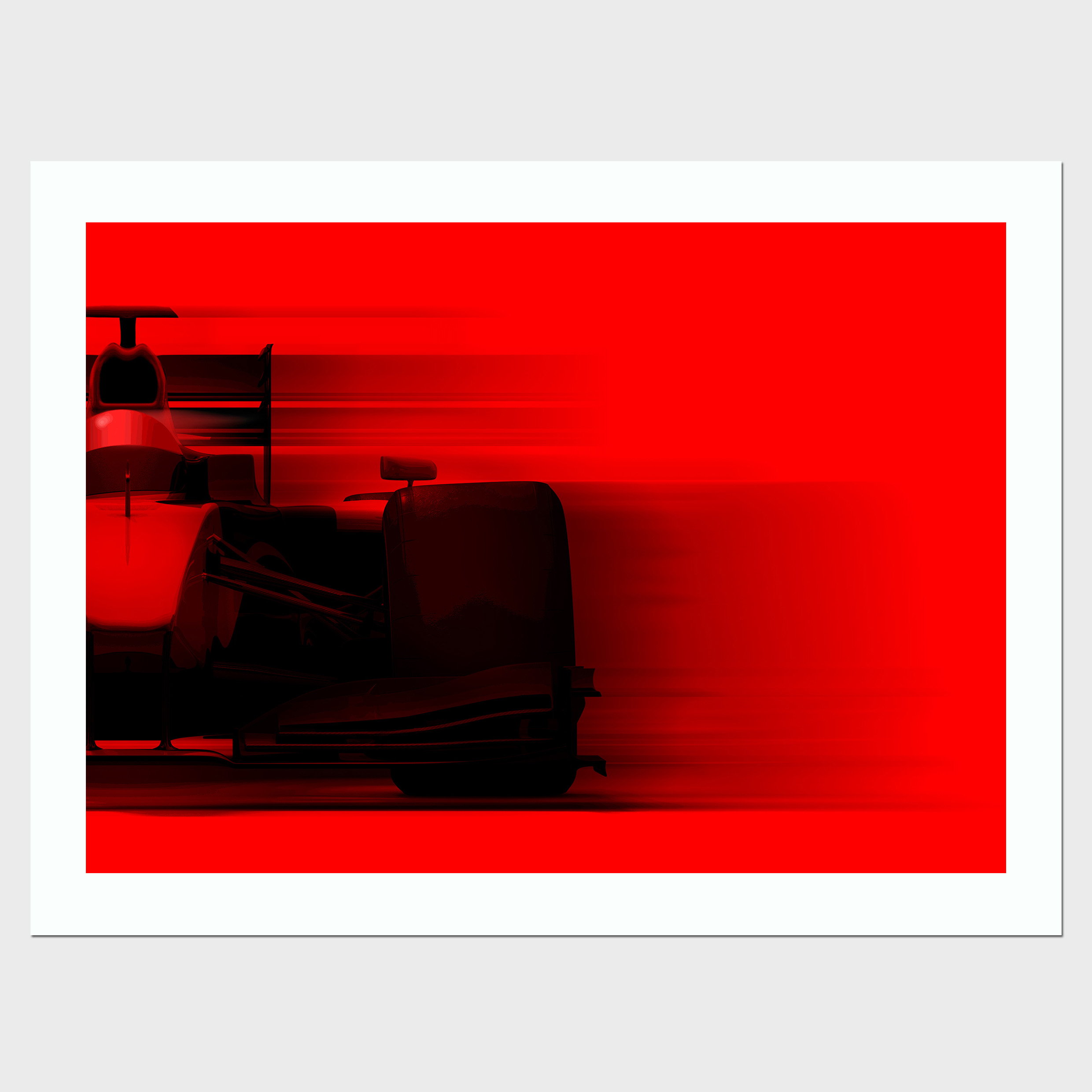 Formula One Momentum Framed Print By Judith Brieger - Brights Collection