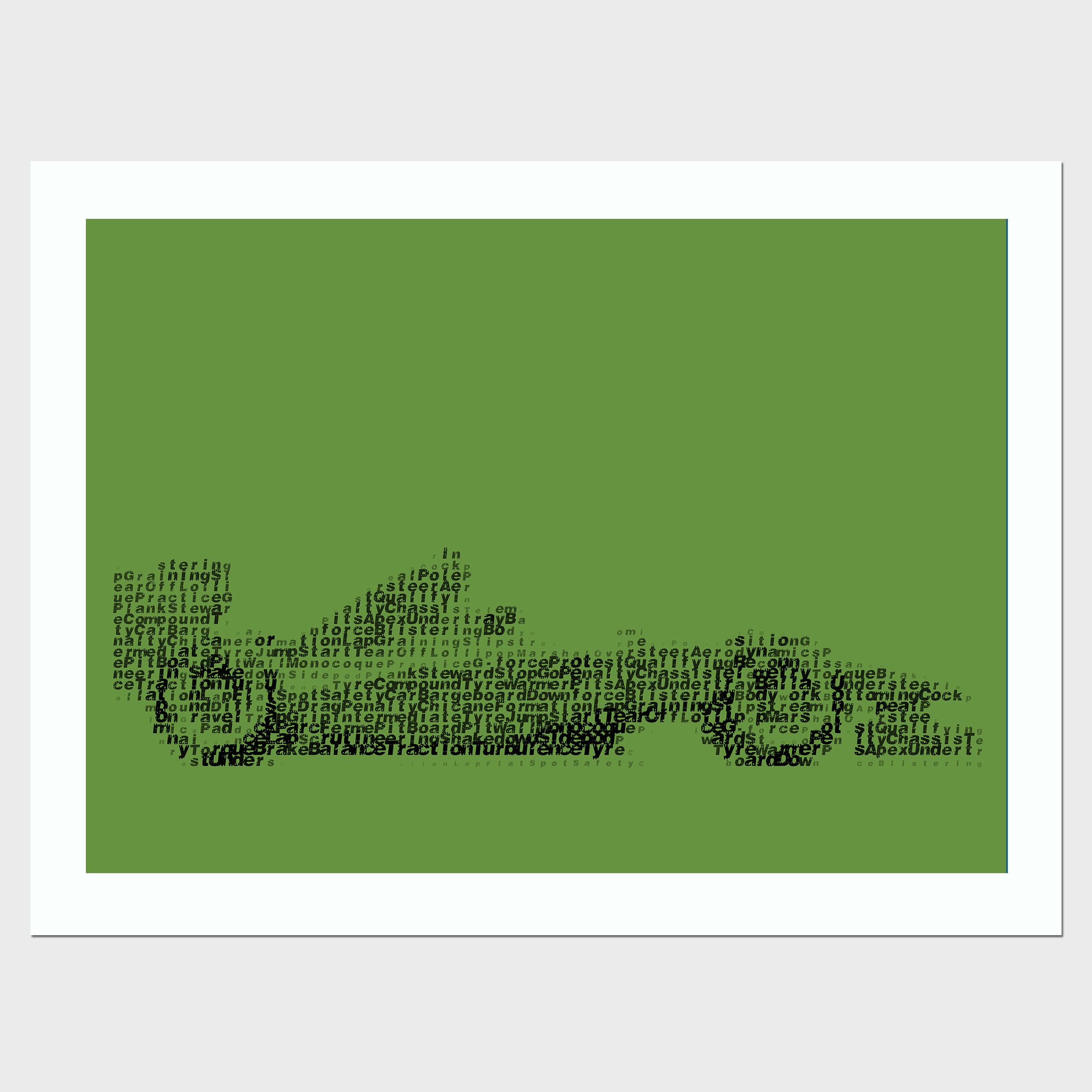 Formula One F1 Glossary Side Framed Print By Judith Brieger - Brights Collection