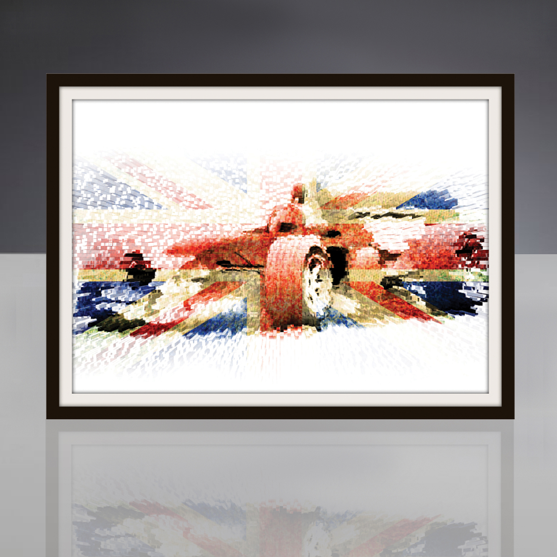 Formula One British Grand Prix Framed Print By Judith Brieger