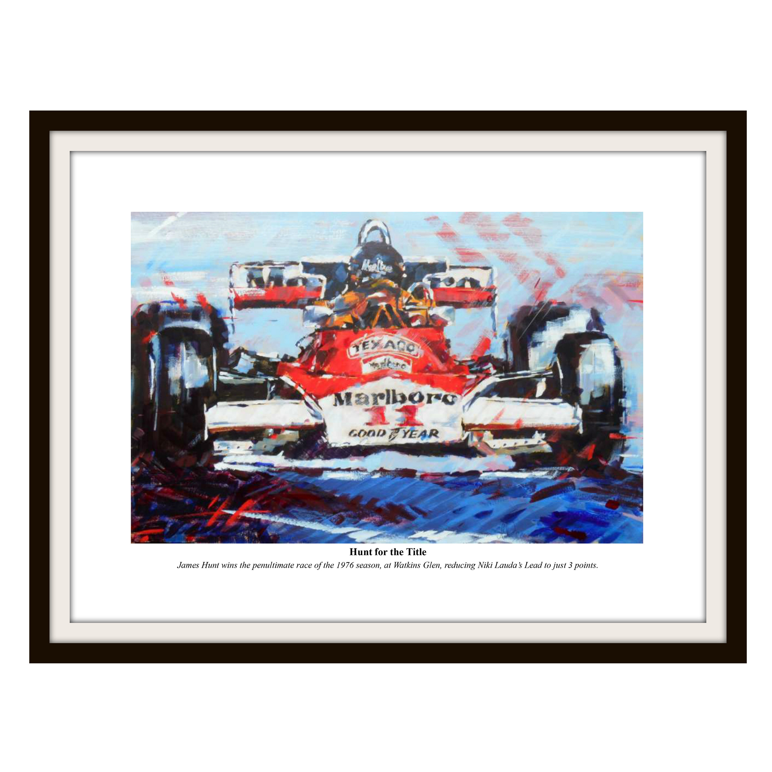 Formula One James Hunt Framed Print By Simon Canacott