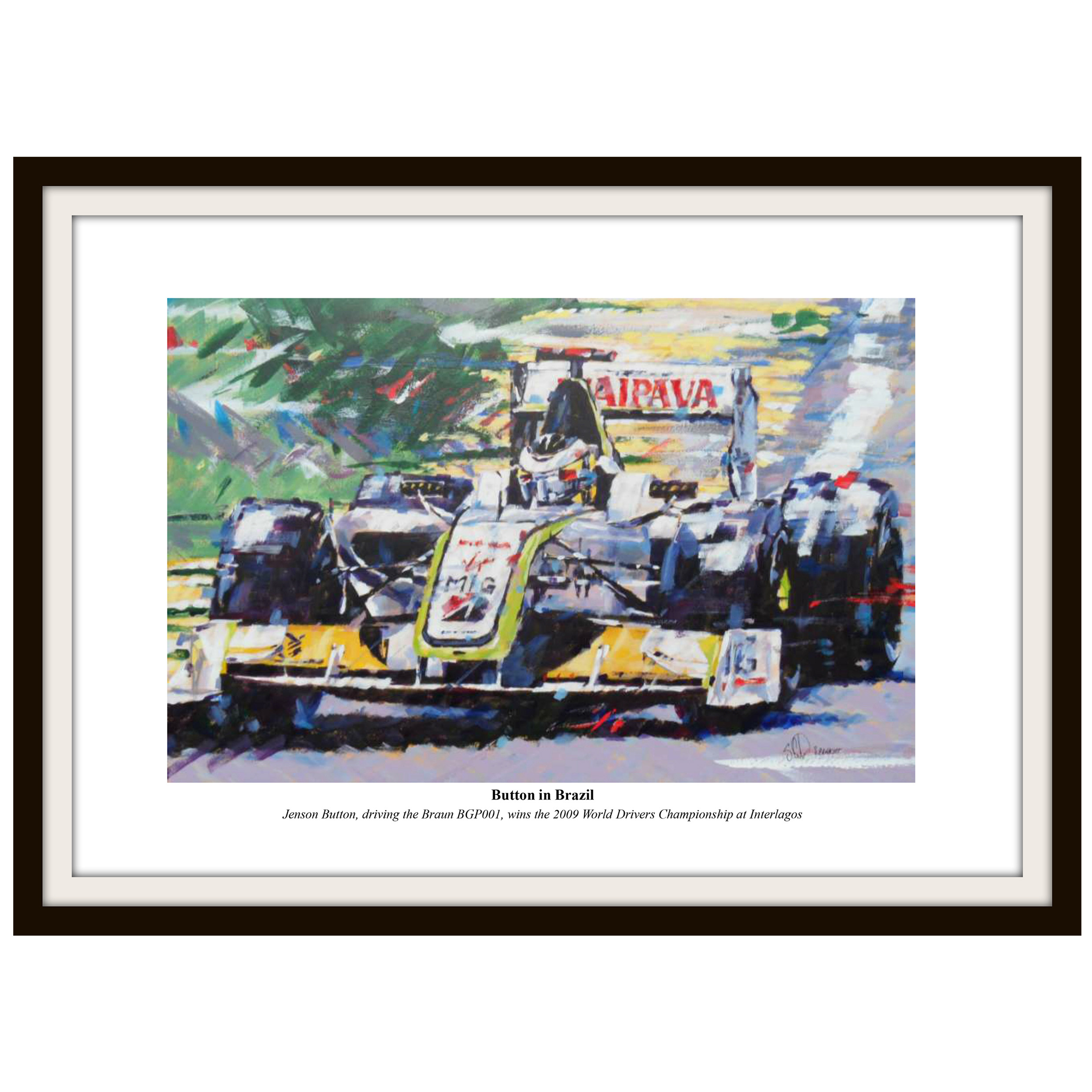 Formula One Jenson Button Framed Print By Simon Canacott