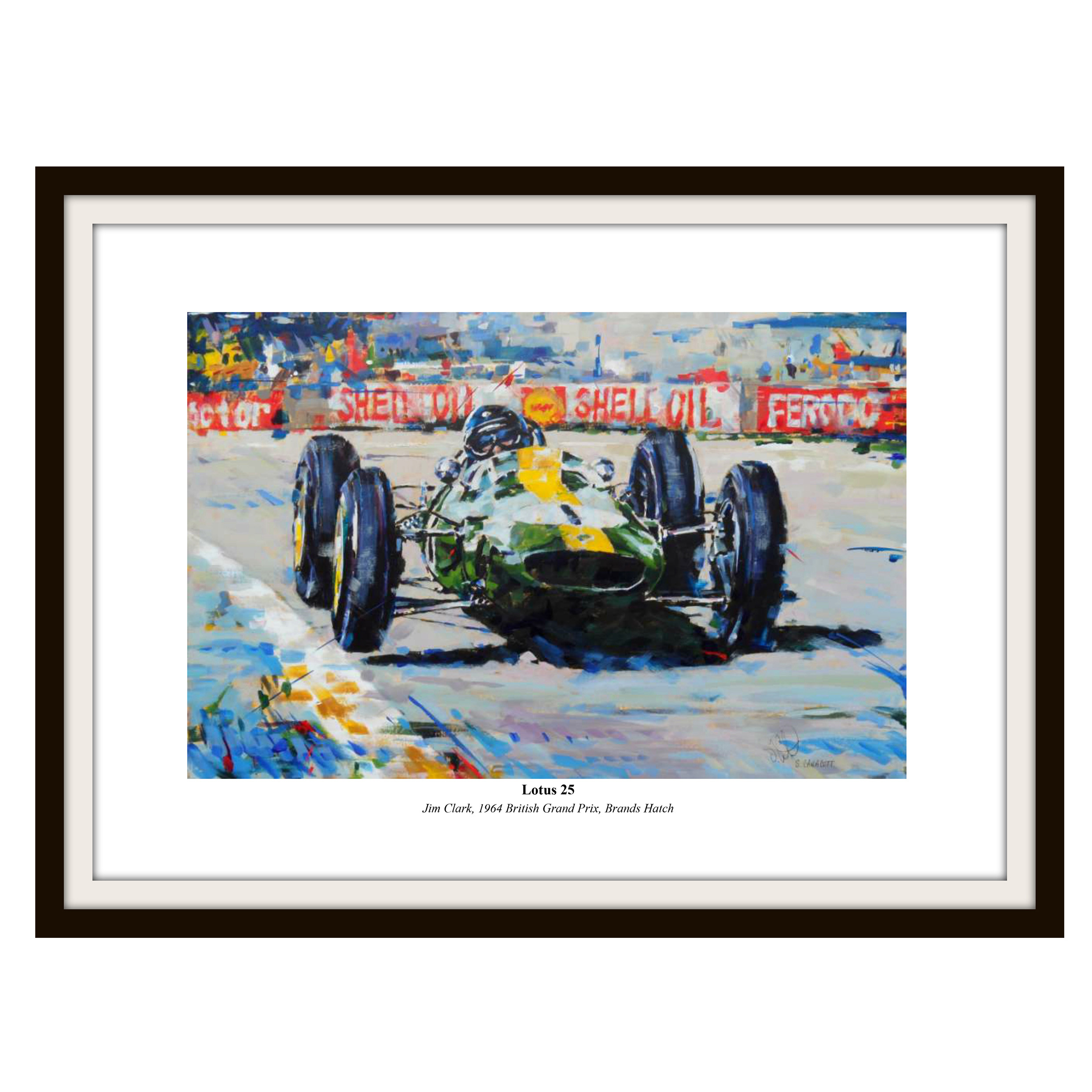 Formula One Jim Clark Framed Print By Simon Canacott