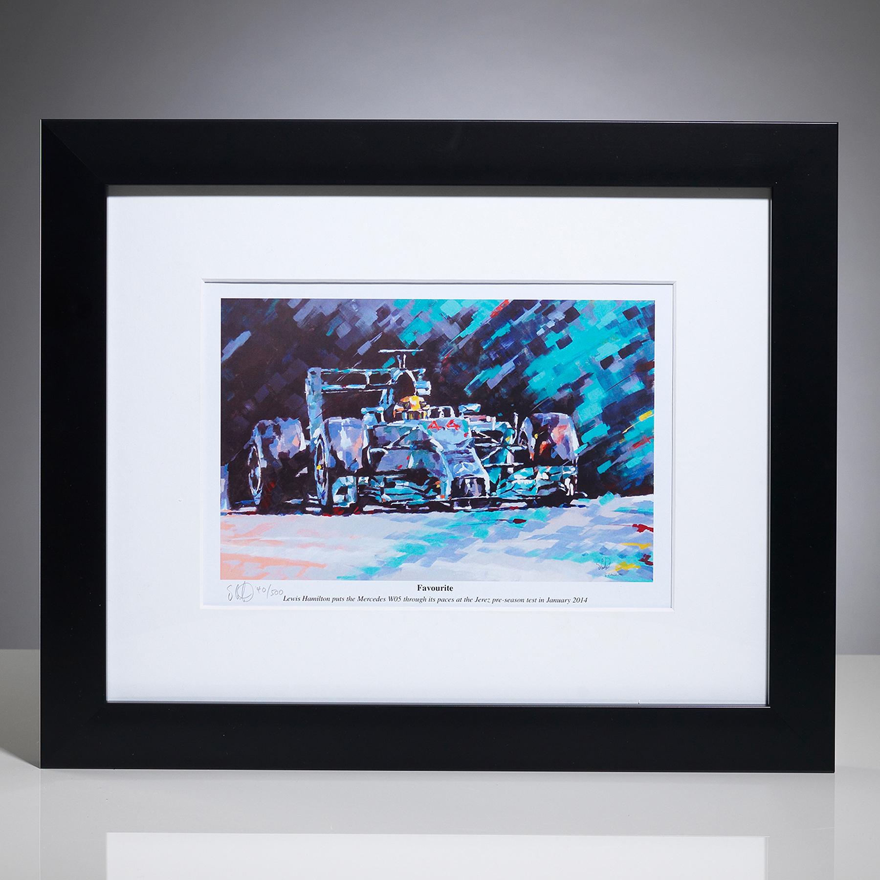 Formula One Lewis Hamilton Framed Print By Simon Canacott