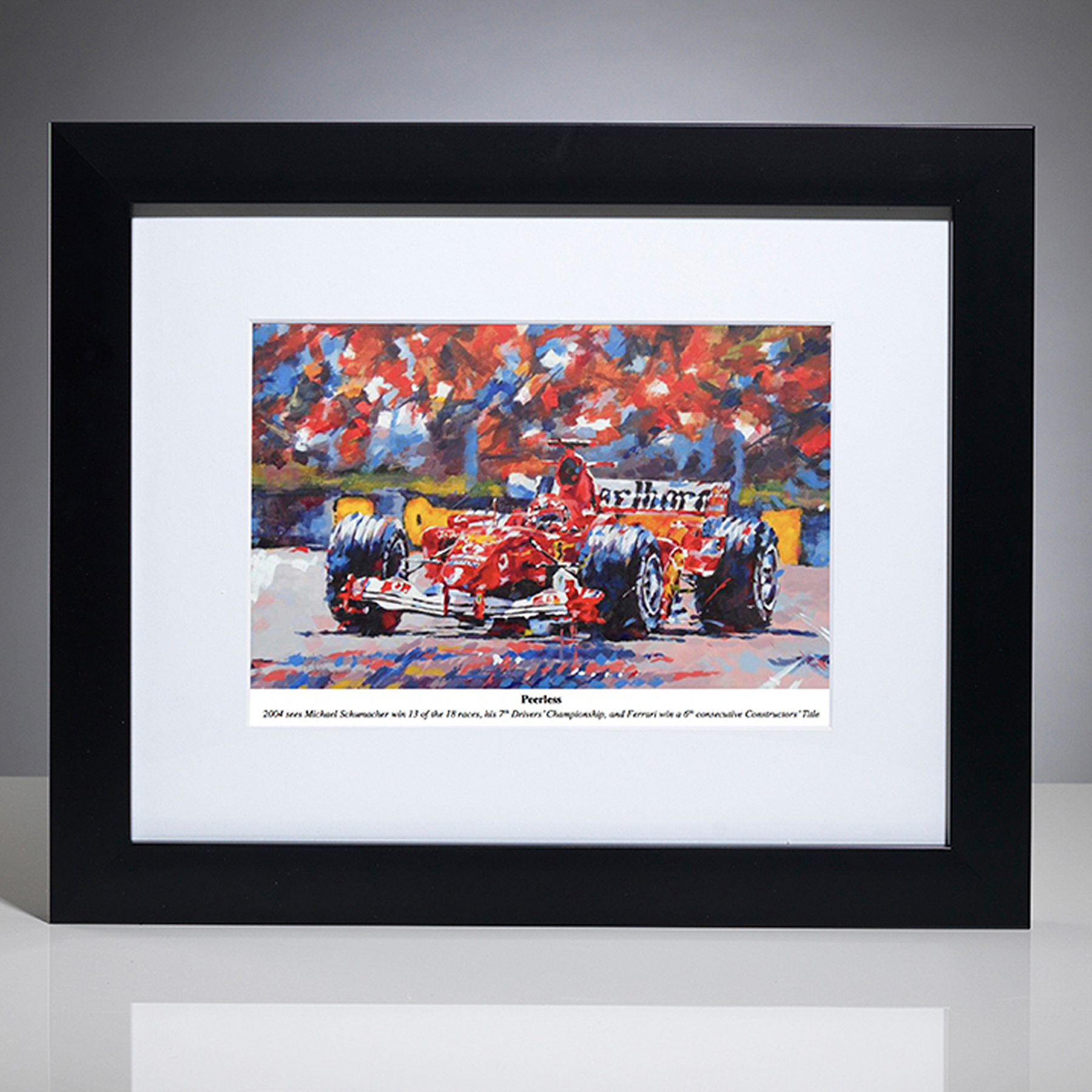 Formula One Michael Schumacher Framed Print By Simon Canacott