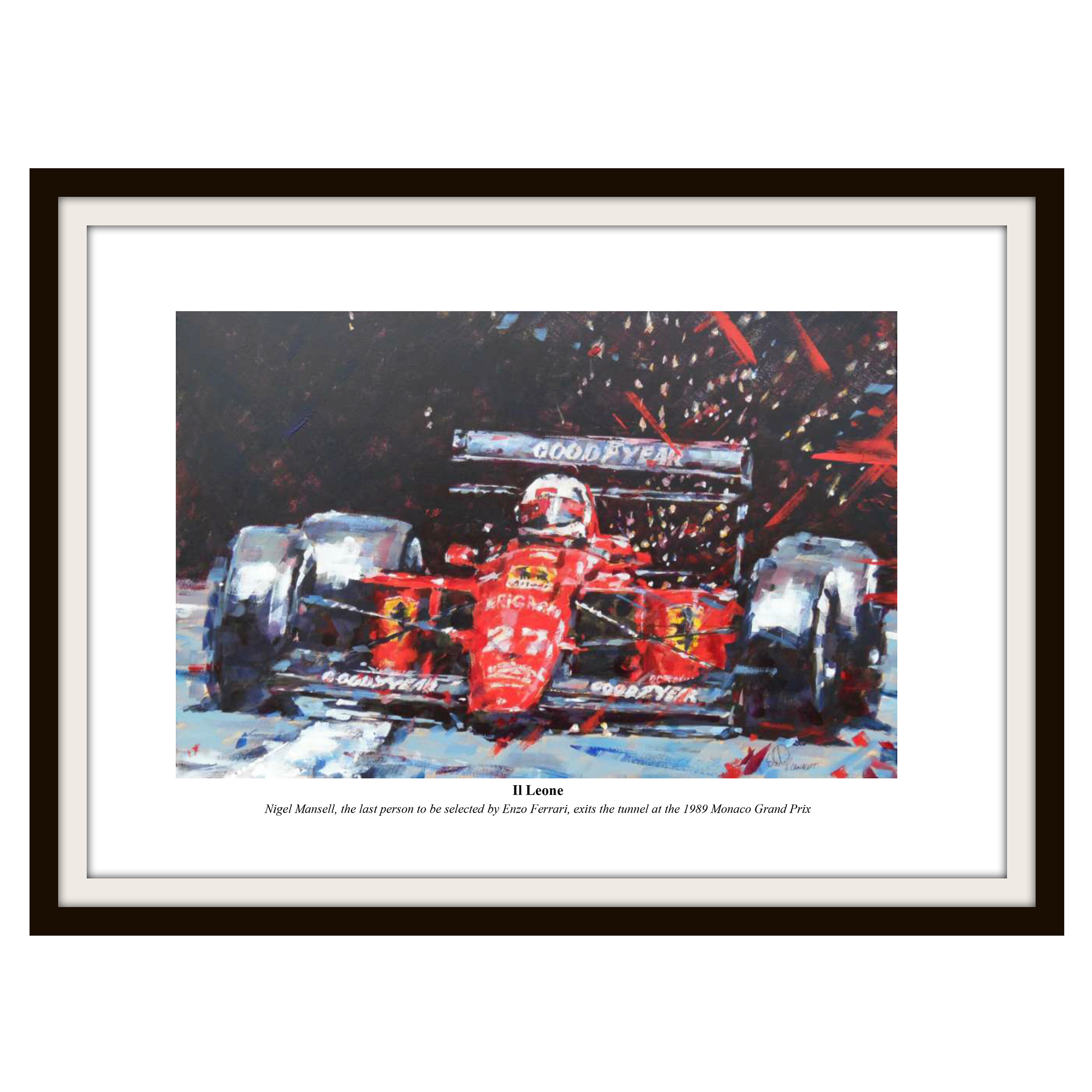 Formula One Nigel Mansell Framed Print By Simon Canacott