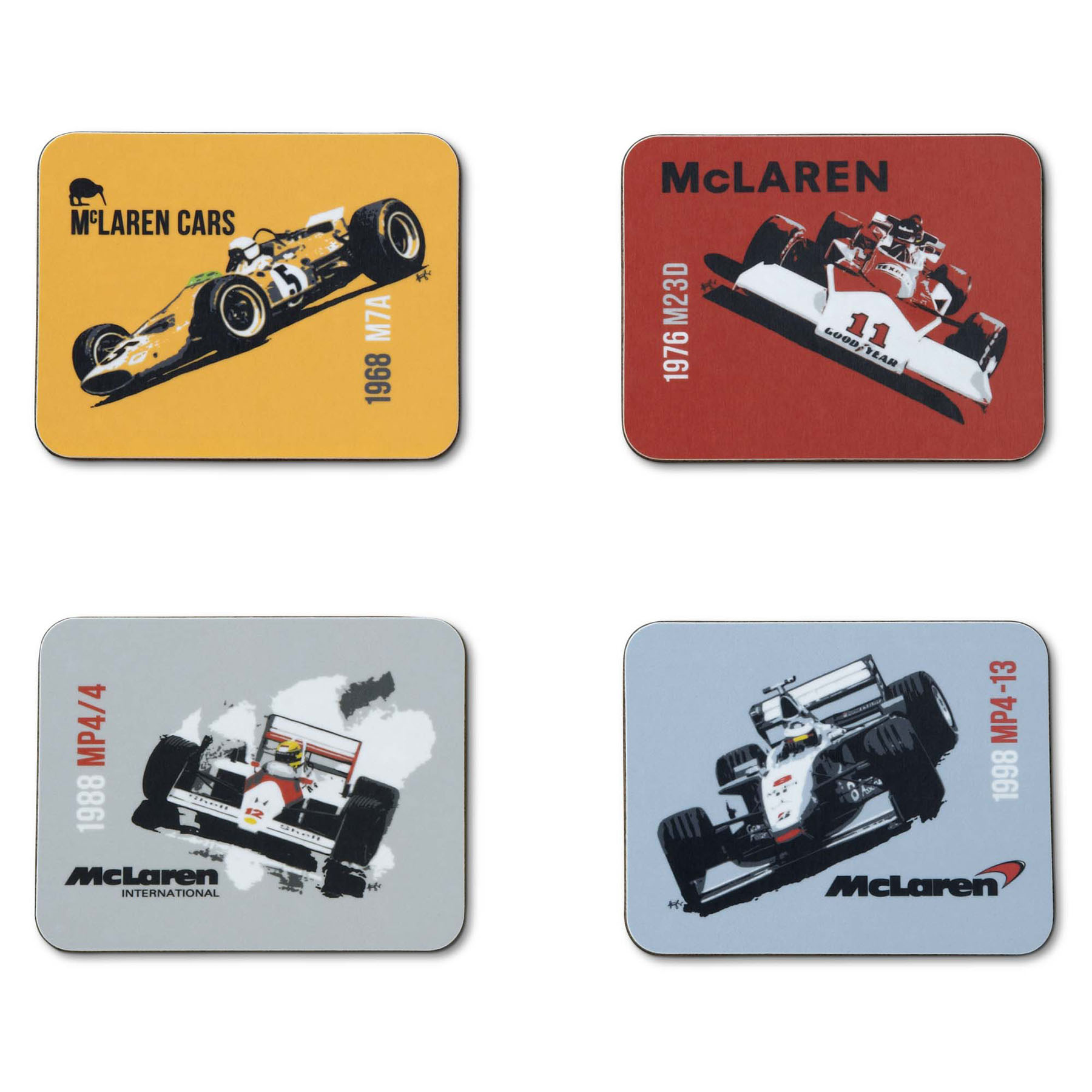 McLaren Mercedes Heritage Cars Coaster Set