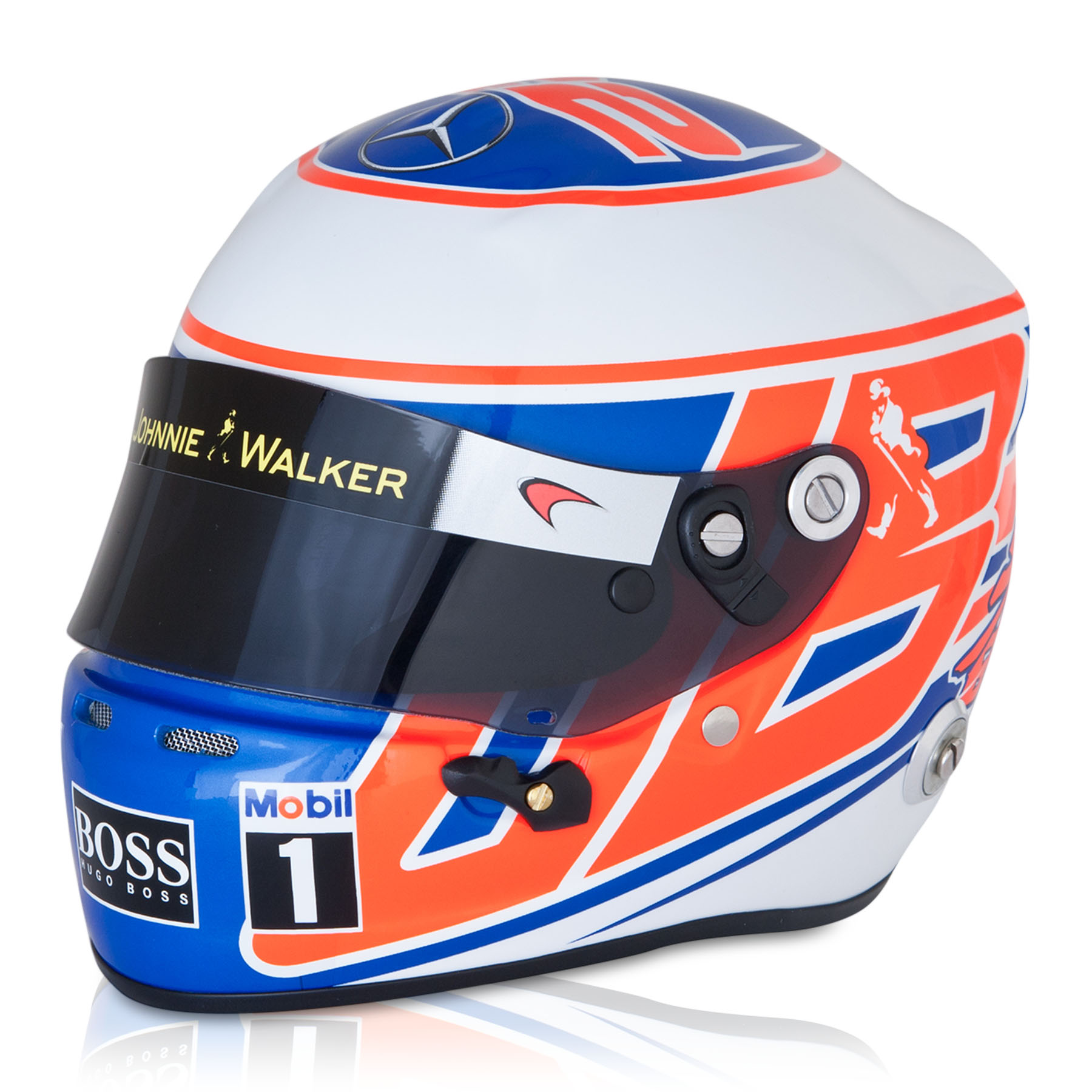 McLaren Mercedes Jenson Button 2014 1:2 Scale Helmet