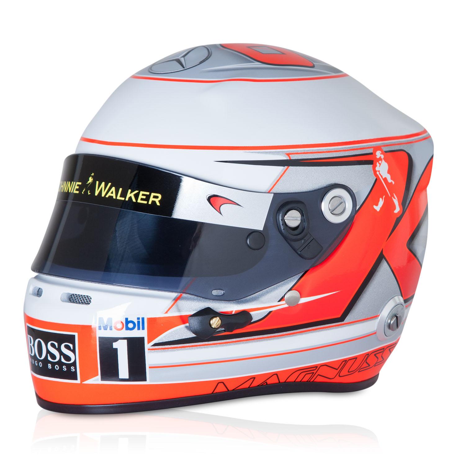 McLaren Mercedes Kevin Magnussen 2014 1:2 Scale Helmet