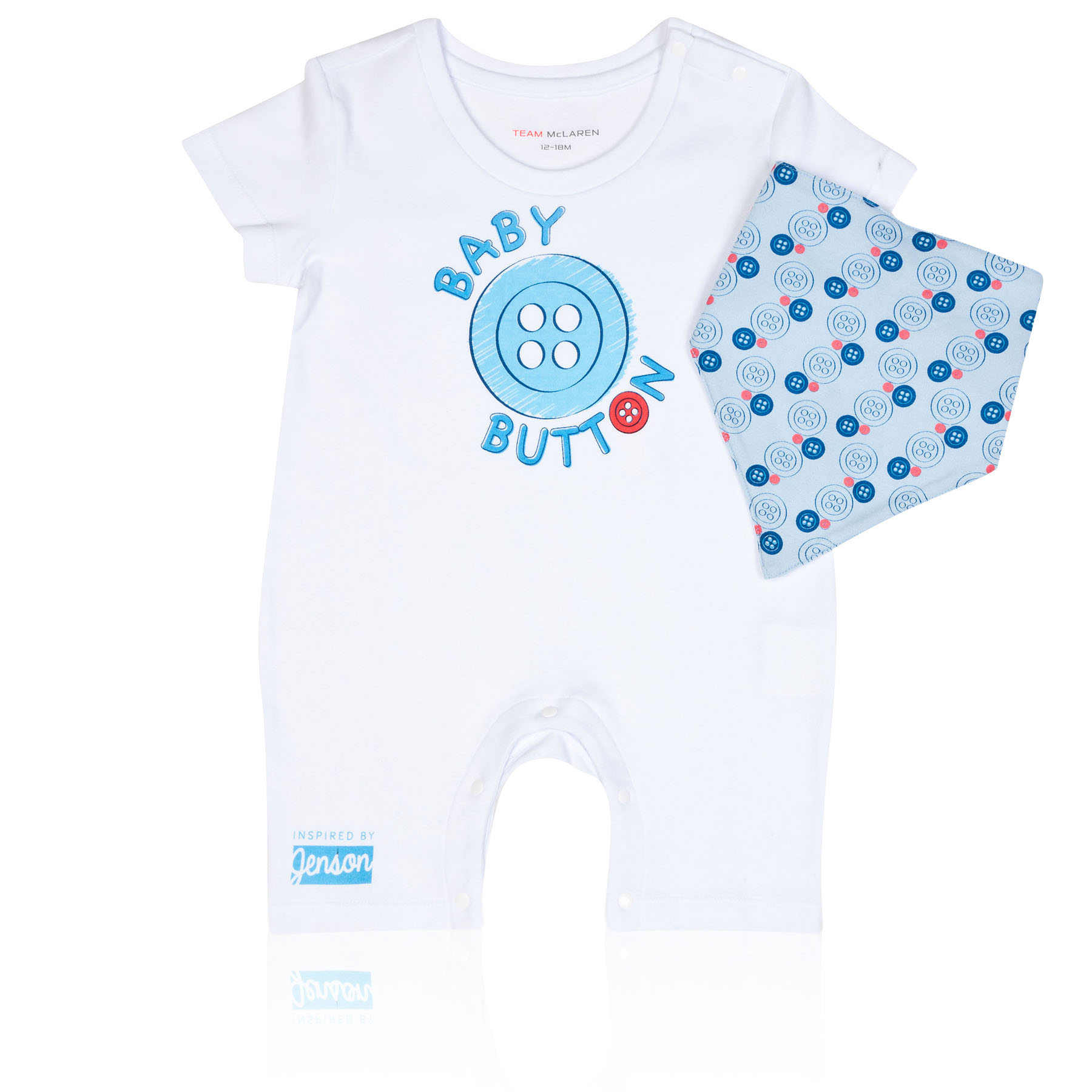 McLaren Mercedes 2014 Baby Button Romper Suit