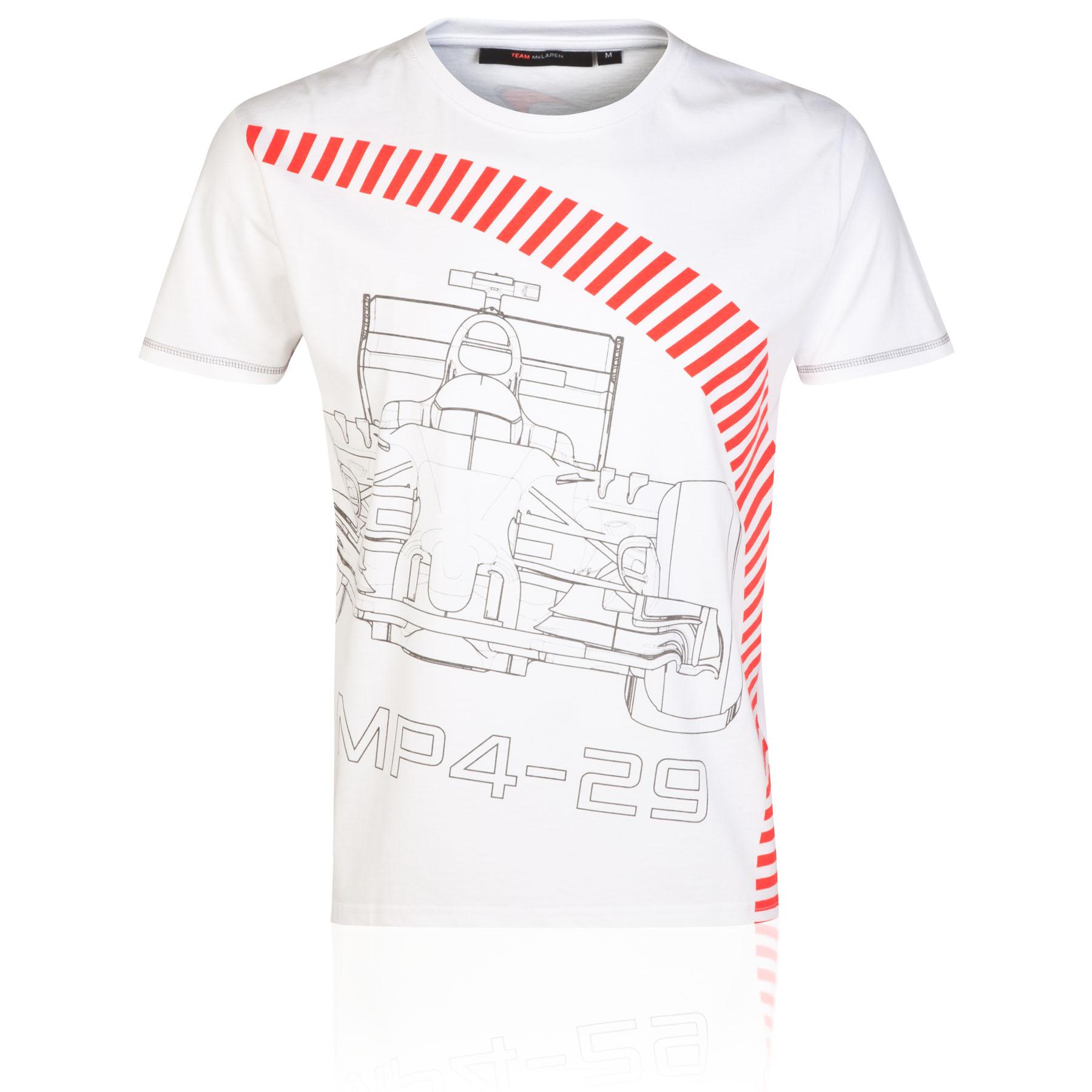 T-Shirts, Polos & Tops|Gifts for Men|Formula 1 McLaren Mercedes MP4-29 Kerb T-Shirt