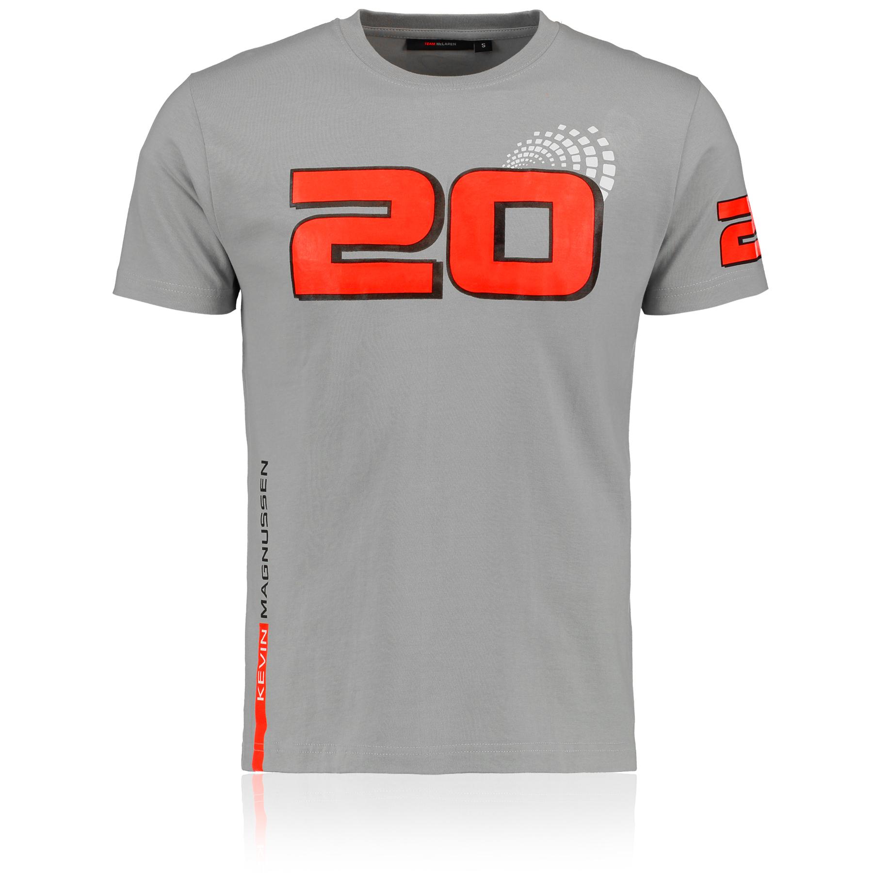 Motor sports|Gifts for Men|Formula 1 McLaren Mercedes Kevin Magnussen 20 T-Shirt
