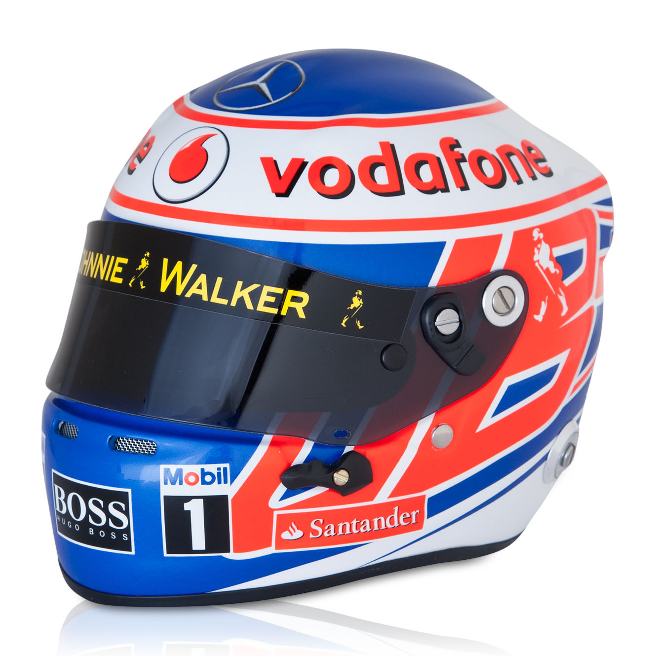 McLaren Mercedes Jenson Button 2013 1:2 Scale Helmet