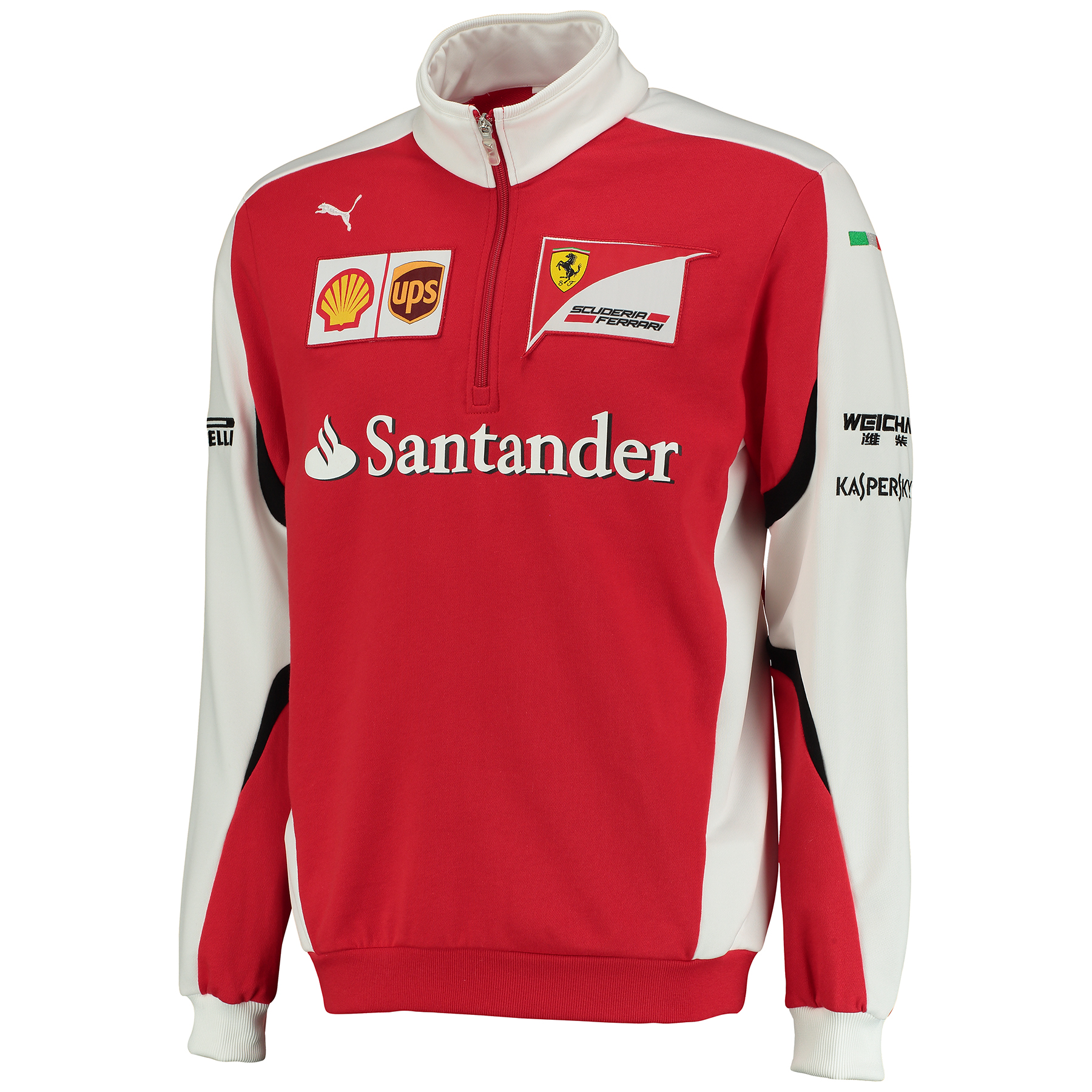 Scuderia Ferrari 2015 Team Half Zip Fleece Red