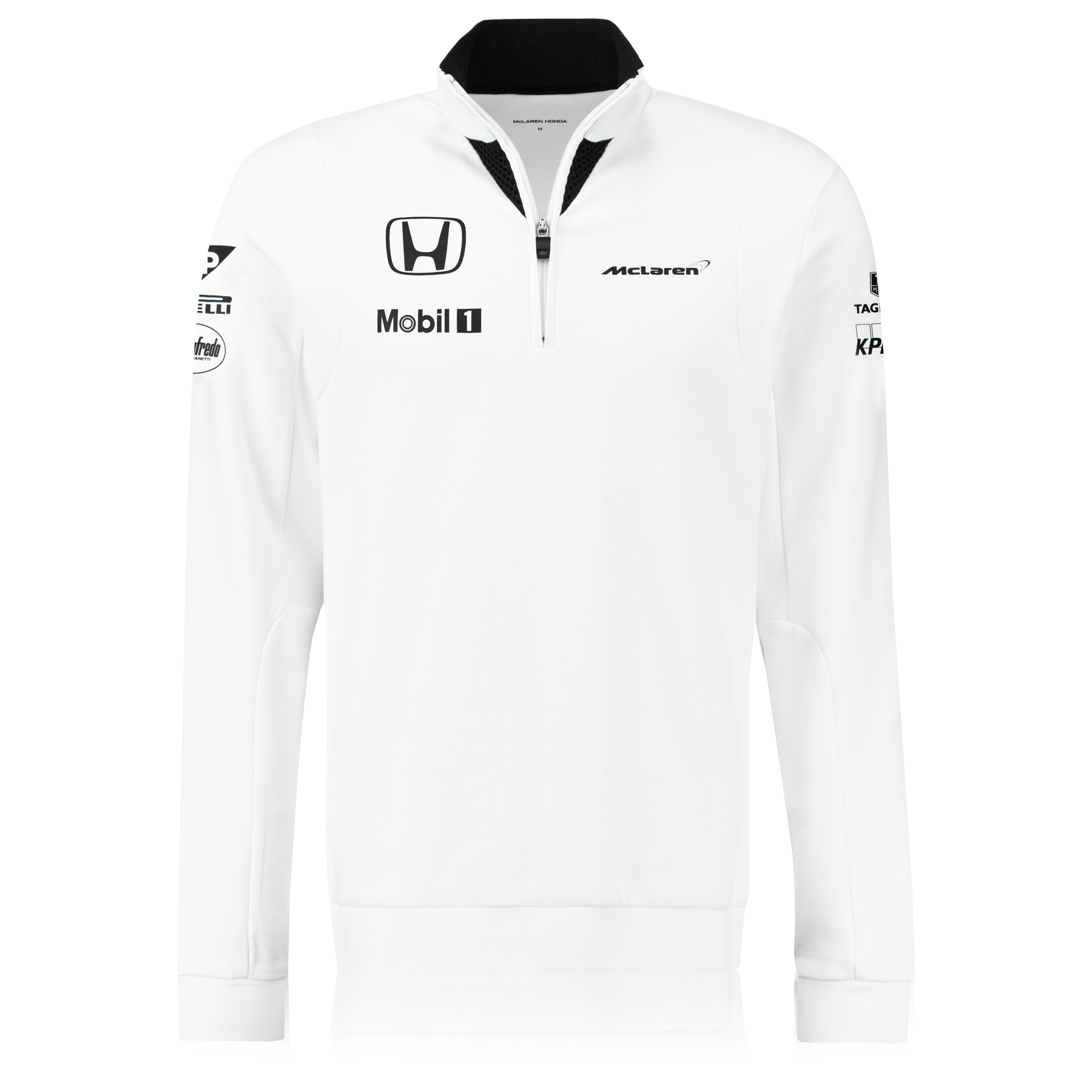 McLaren Honda Official Team 1/4 Zip Sweatshirt Male White
