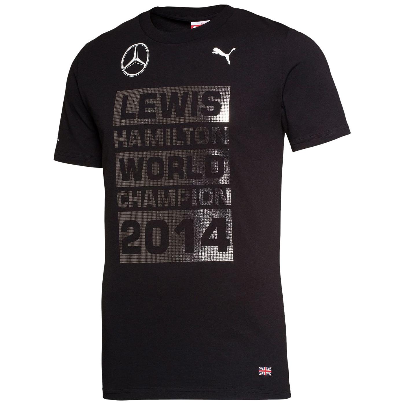 Mercedes AMG Petronas Lewis Hamilton 2014 World Champion T-Shirt