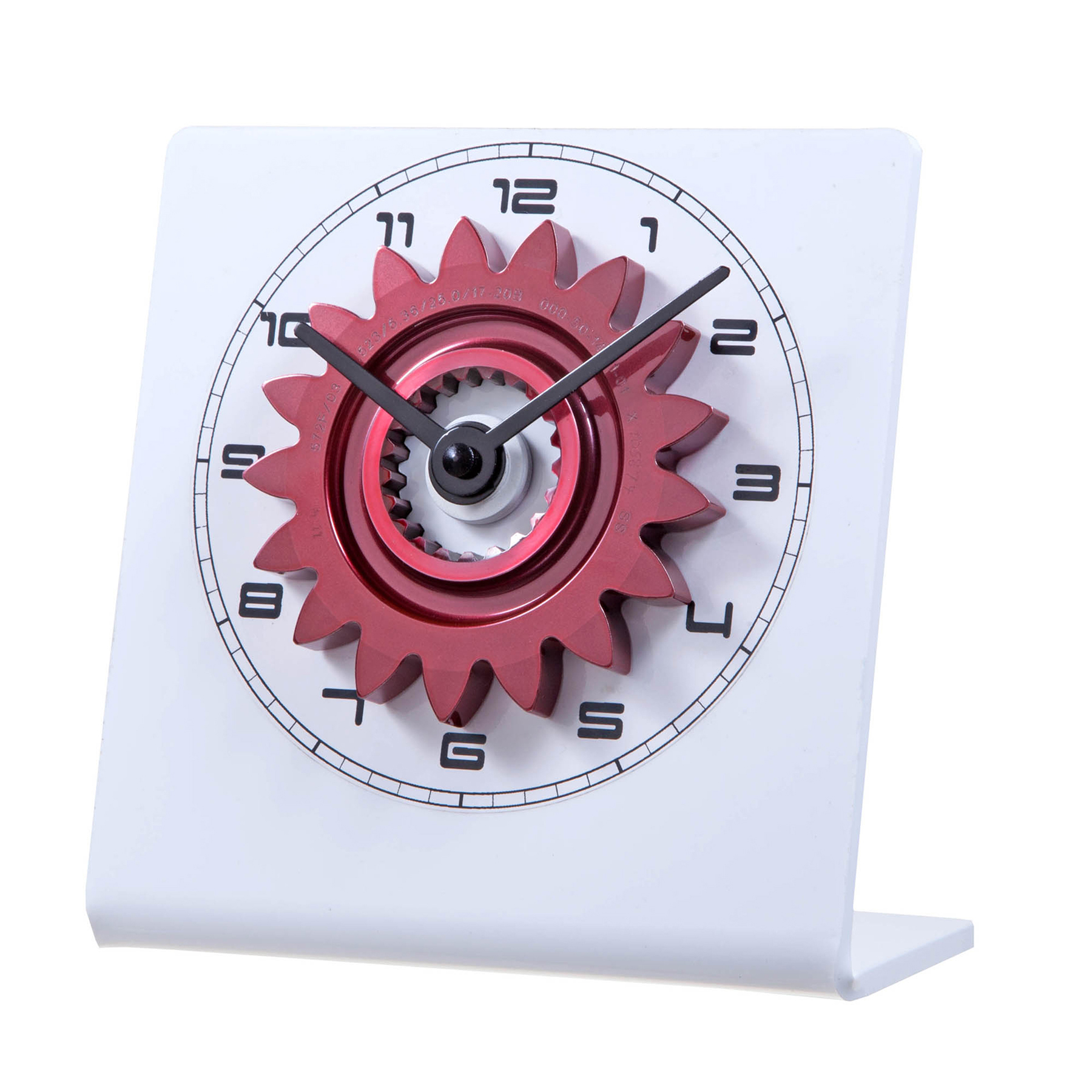 Formula One Gear Ratio Clock - Red and White