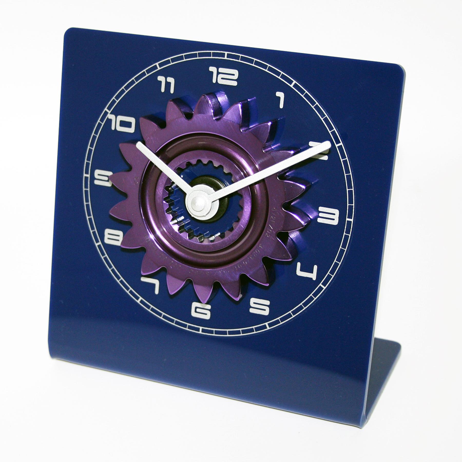 Formula One Gear Ratio Clock - Blue and Purple