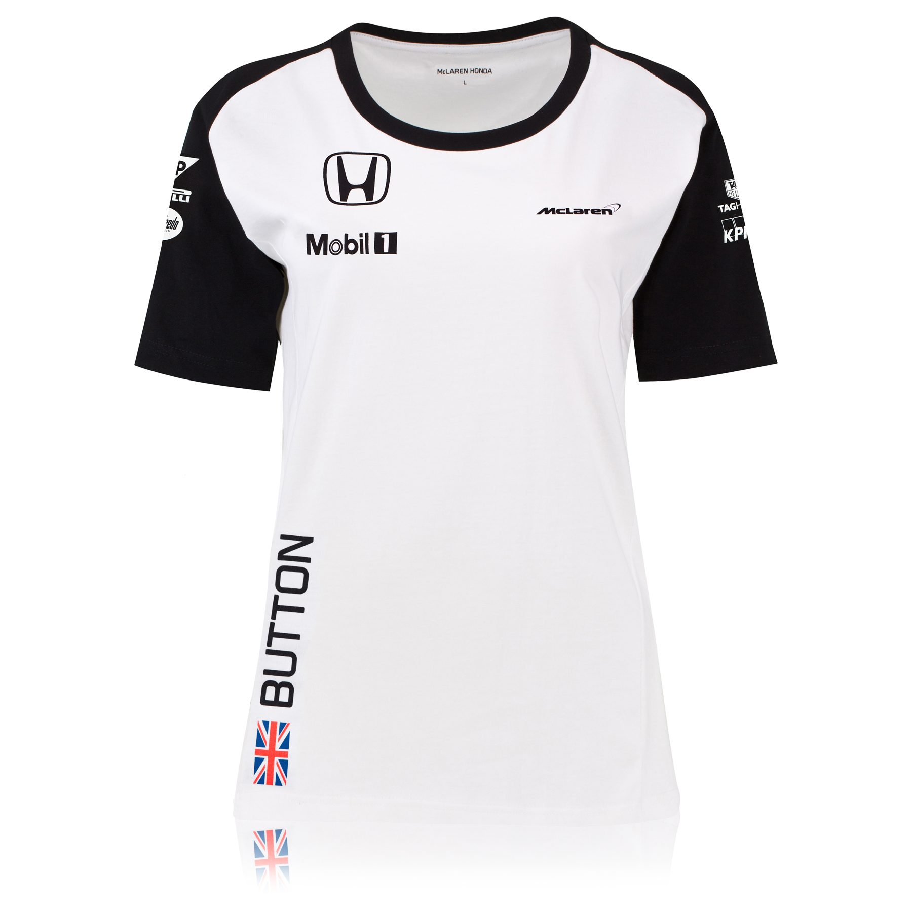 McLaren Honda Jenson Button Team T-Shirt Female White