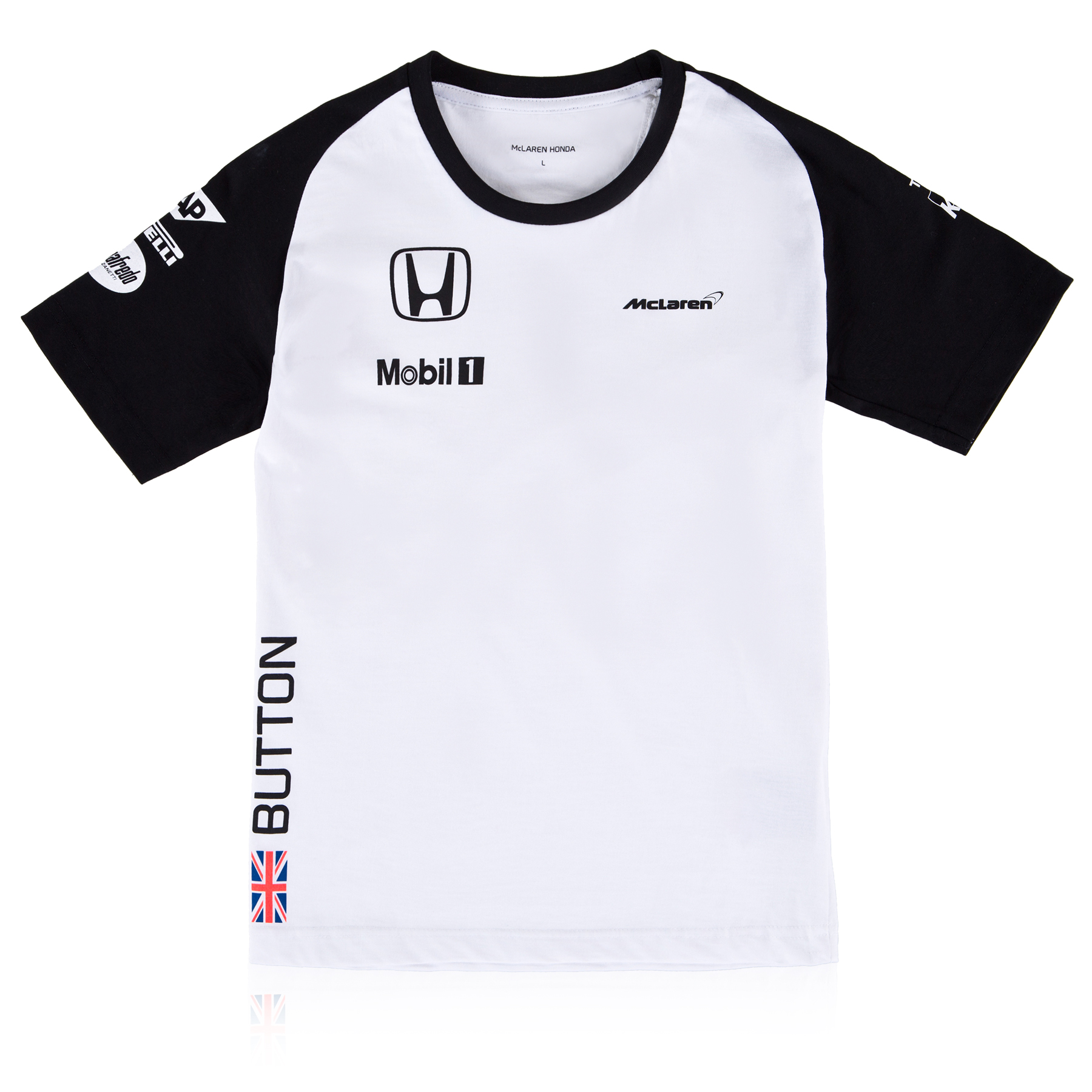 McLaren Honda Jenson Button Team T-Shirt Kids White