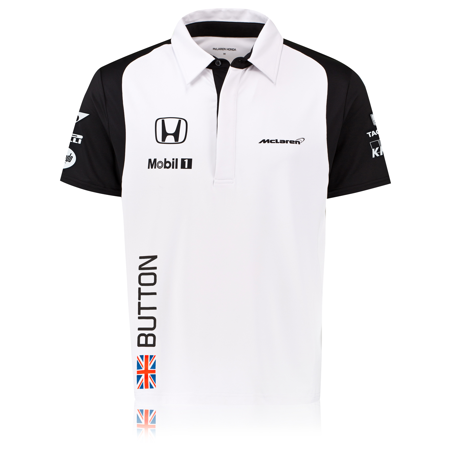 McLaren Honda Jenson Button Team Polo Male White