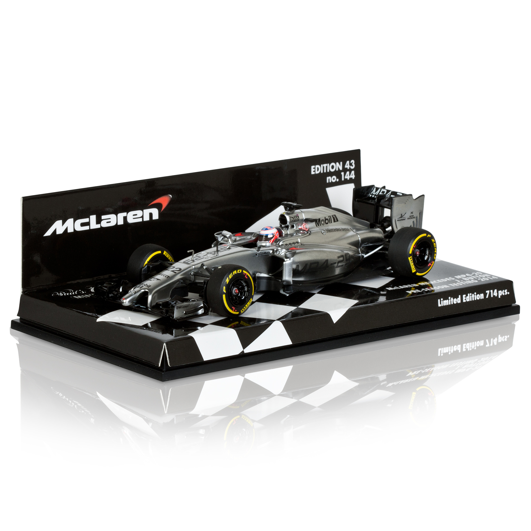 McLaren Mercedes MP4-29 Jenson Button 1:43 Scale Model