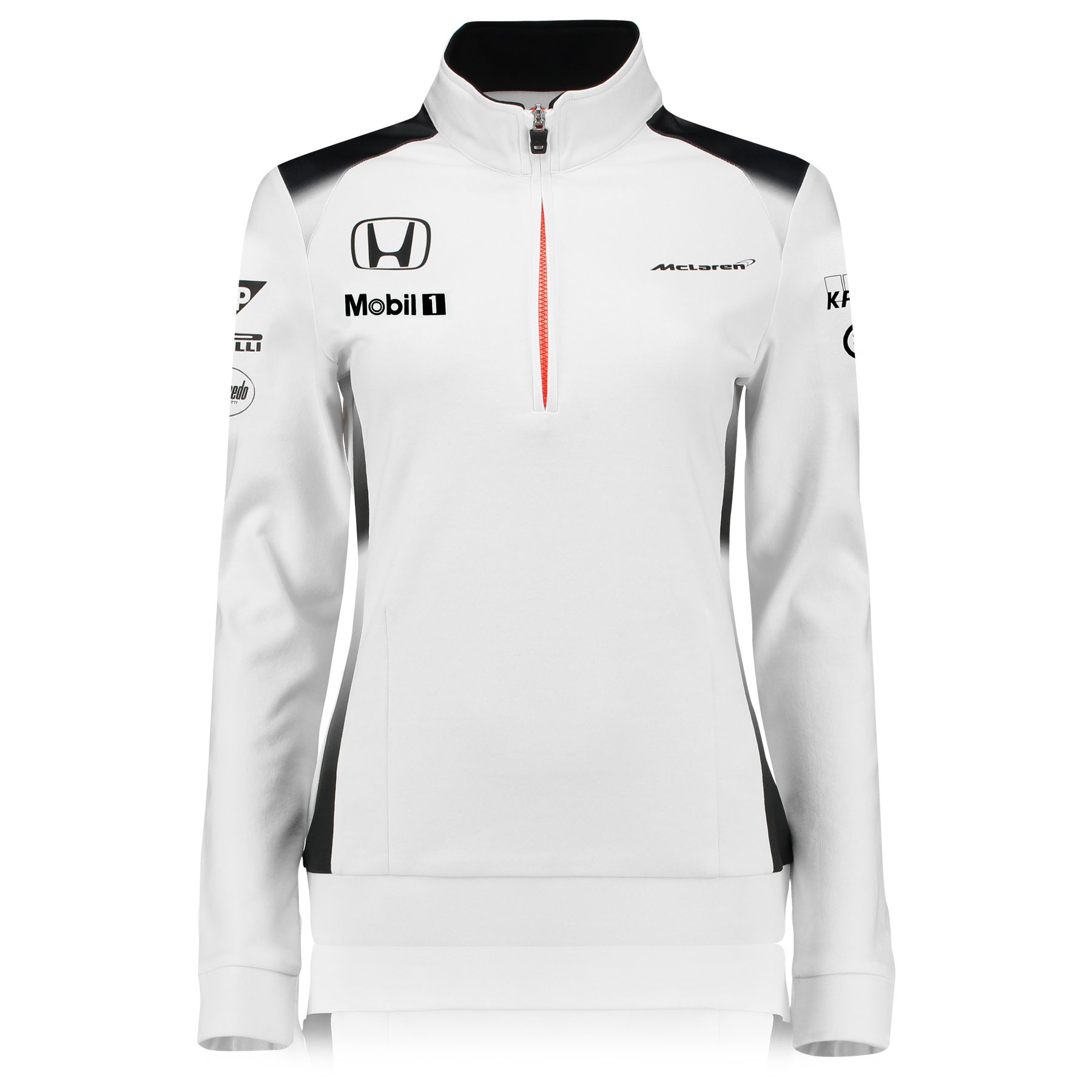 Mclaren Honda Official 2016 Team 1/4 Zip Sweatshirt Womens