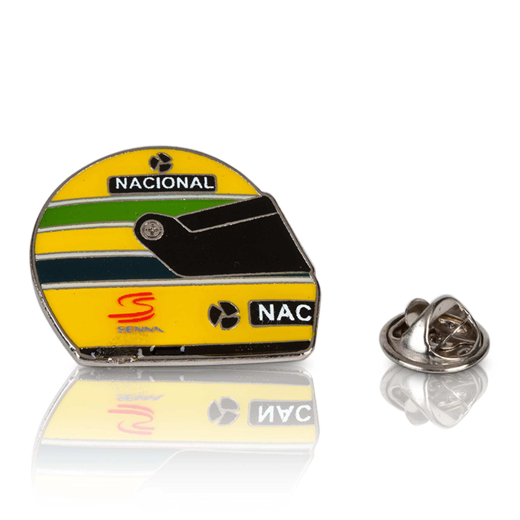 Image of Ayrton Senna 1990 Helmet Pin Badge