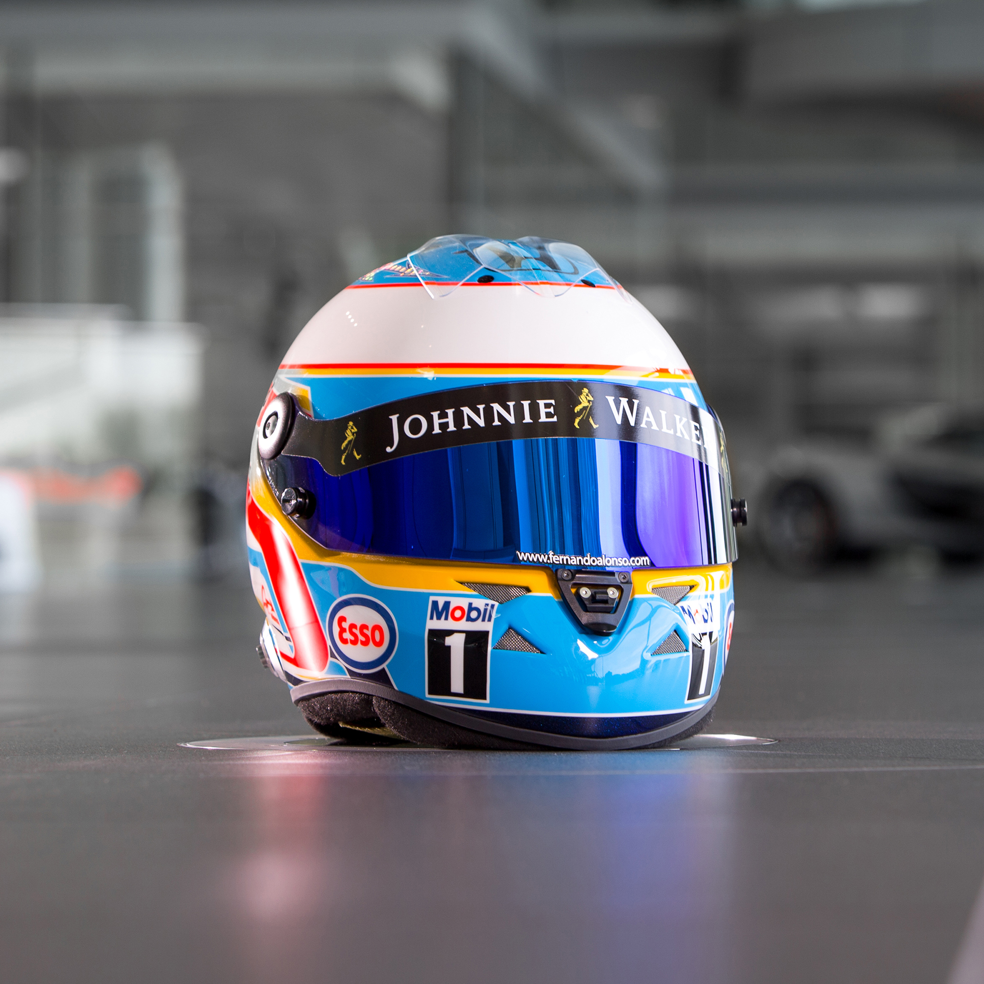 "Image of ""McLaren 2015 Fernando Alonso Full Scale Helmet"""