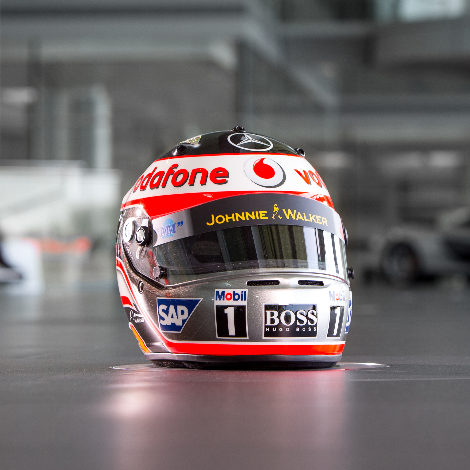 "Image of ""McLaren 2007 Fernando Alonso Full Scale Helmet"""