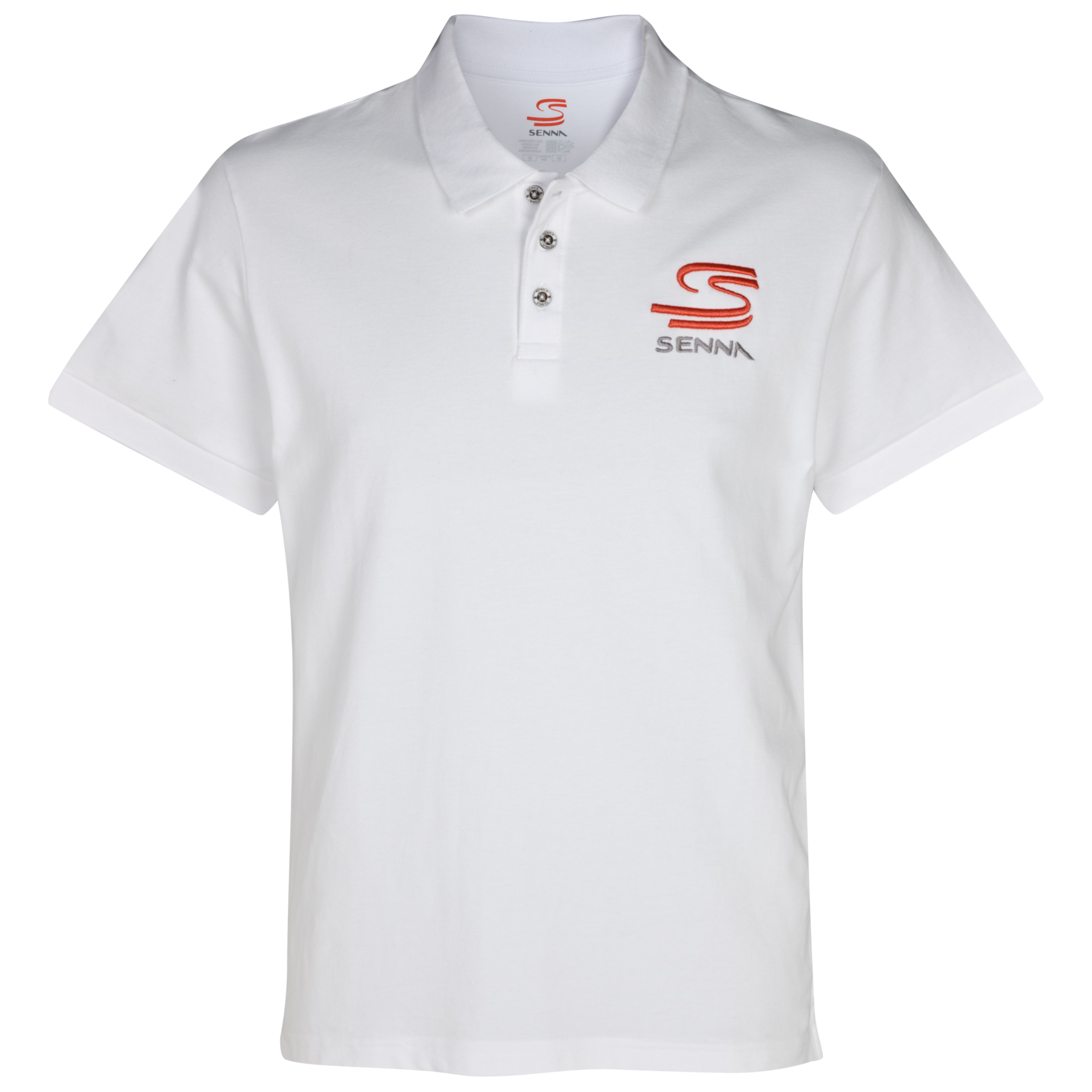 Ayrton Senna Double S Polo Shirt - White