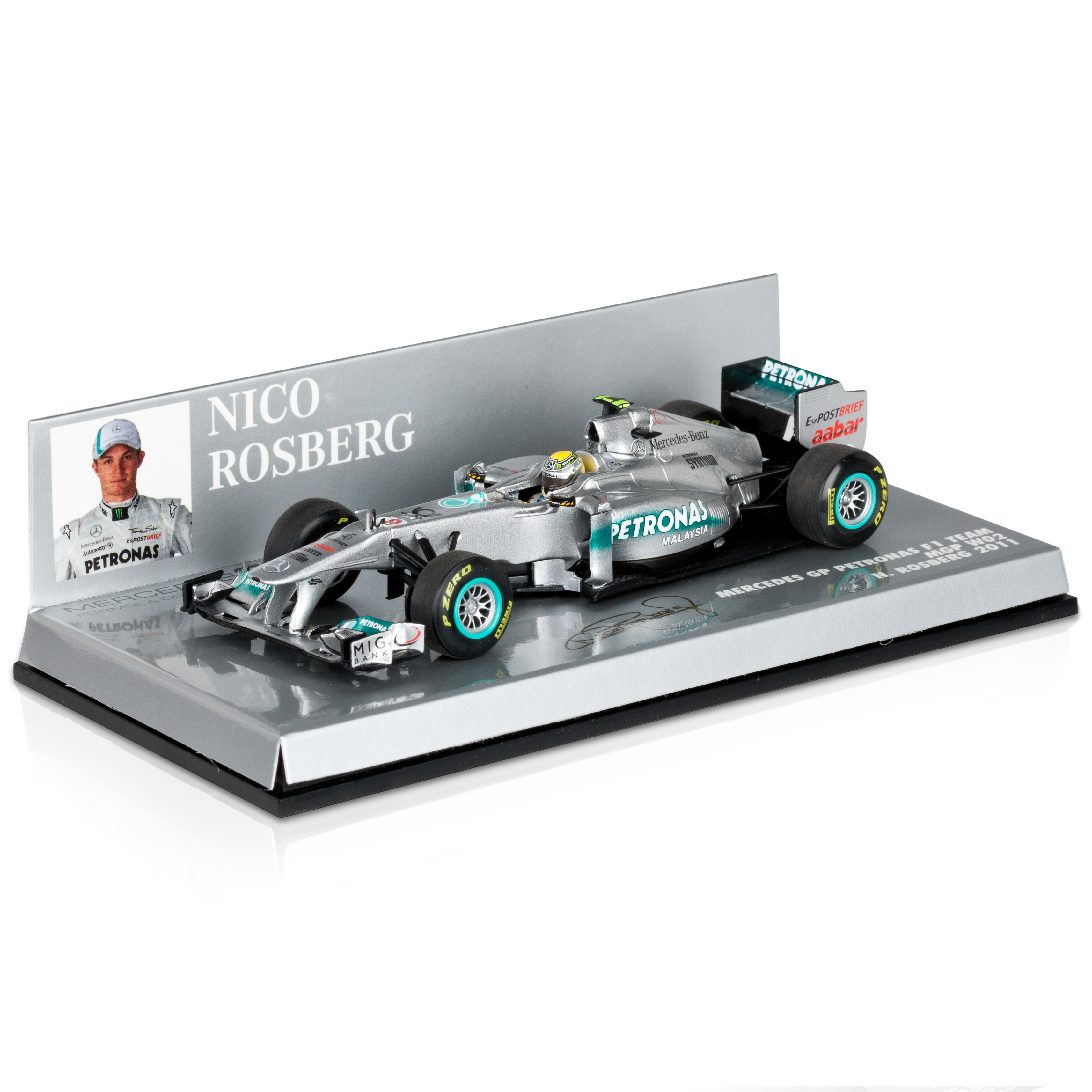 Mercedes GP Petronas MGPW02 2011 Nico Rosberg 1:43 Scale