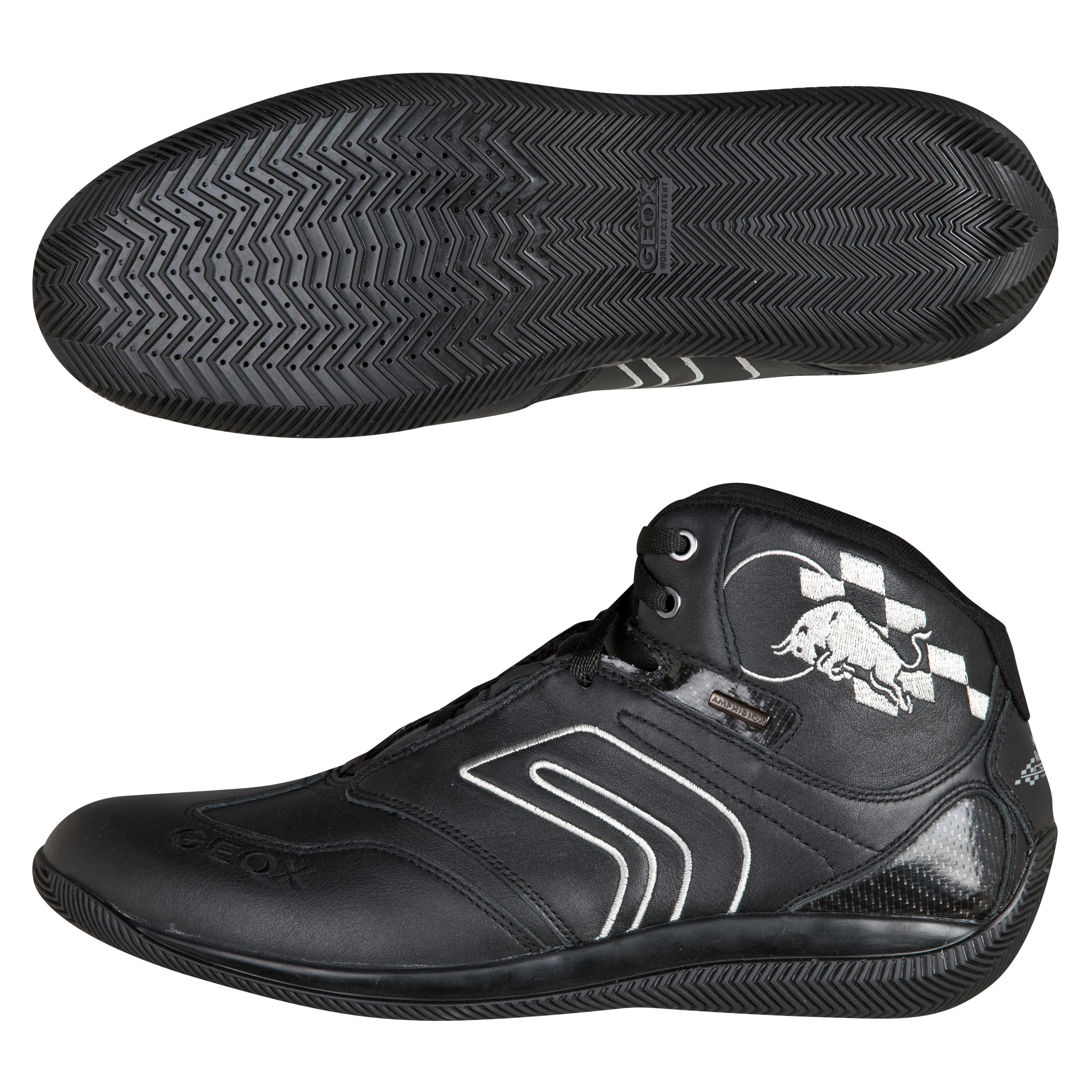 GEOX Red Bull Racing Strada Trainer Leather - Black