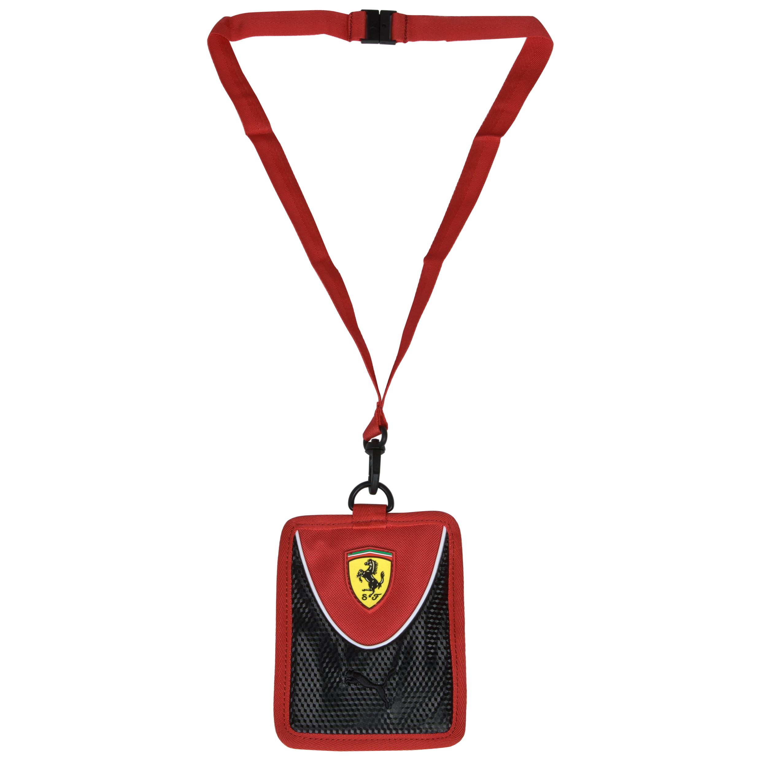 Scuderia Ferrari Card Holder - Rosso Corsa/Black
