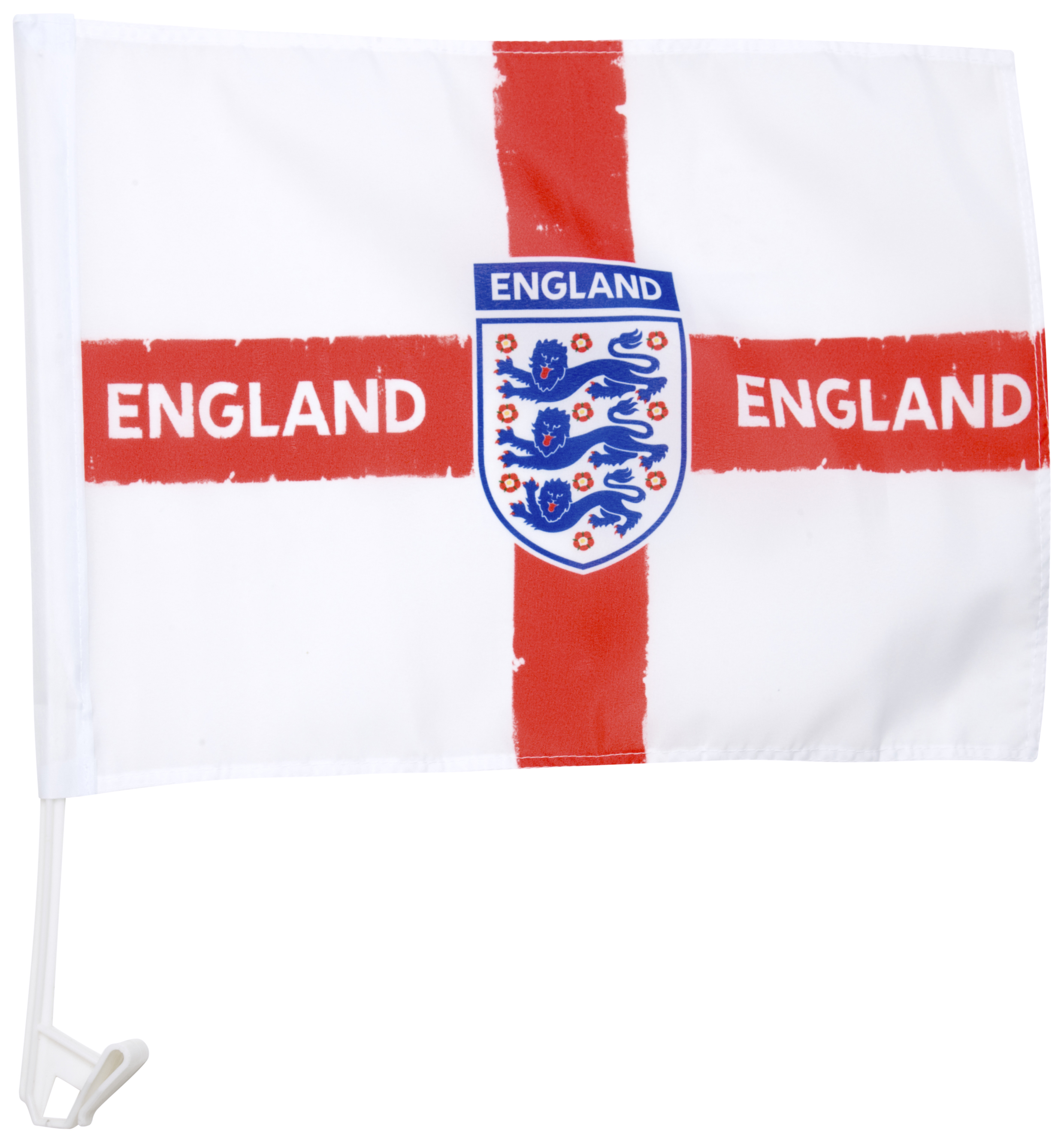 England FA Distressed Crest Car Flag